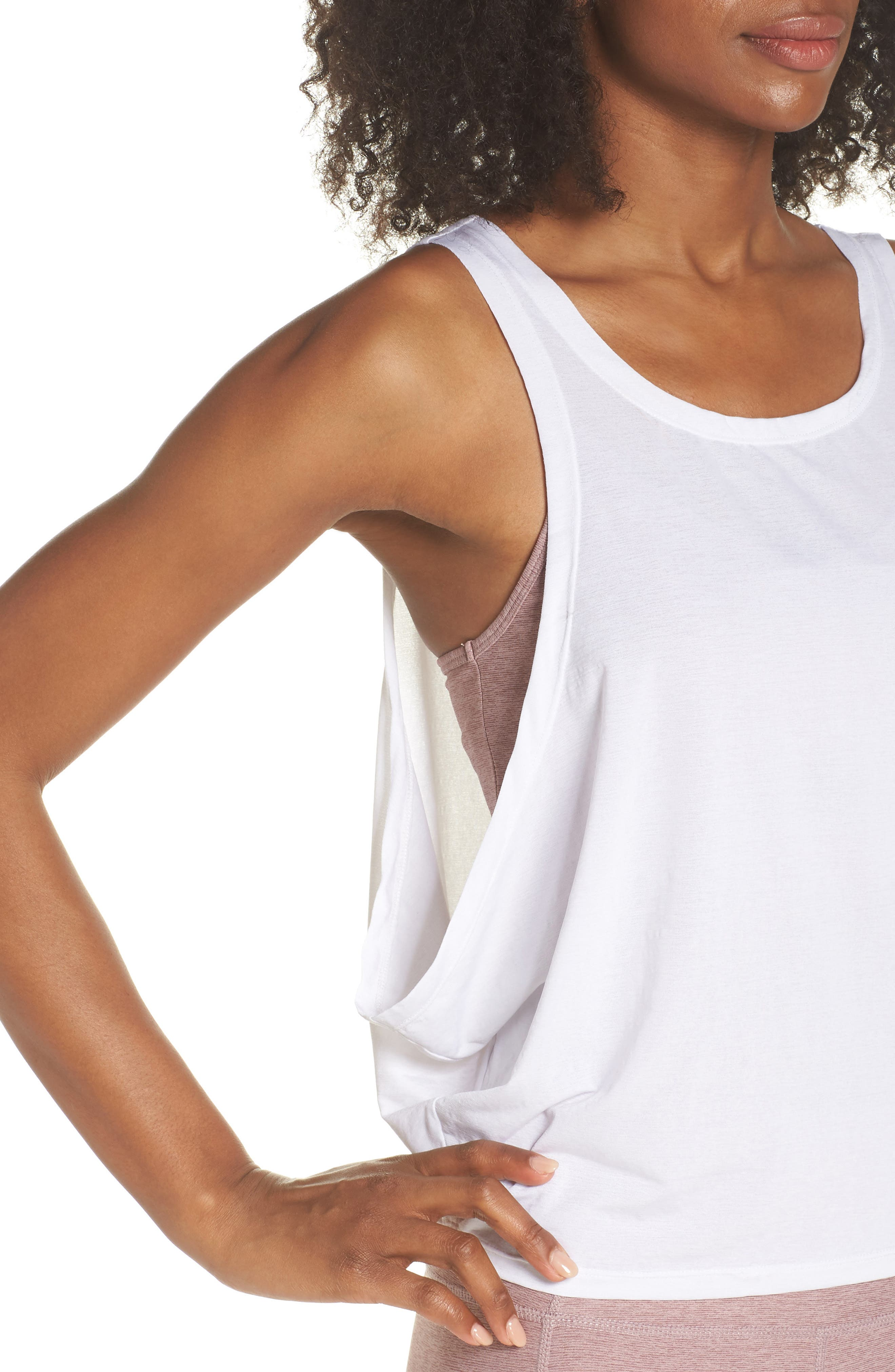 Buckley Crop Top,                             Alternate thumbnail 4, color,                             WHITE
