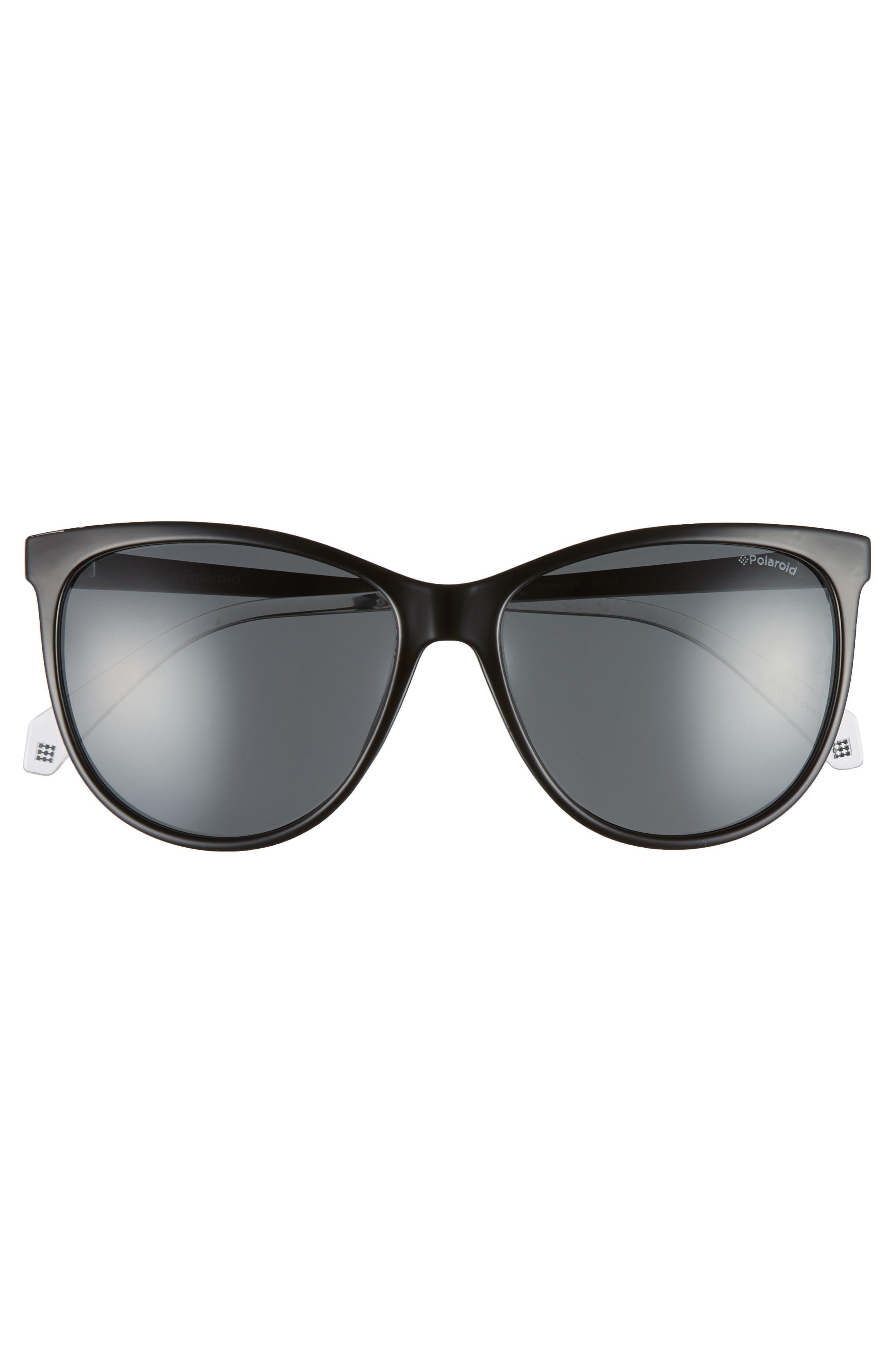 Basic 57mm Polarized Sunglasses,                             Alternate thumbnail 3, color,                             001