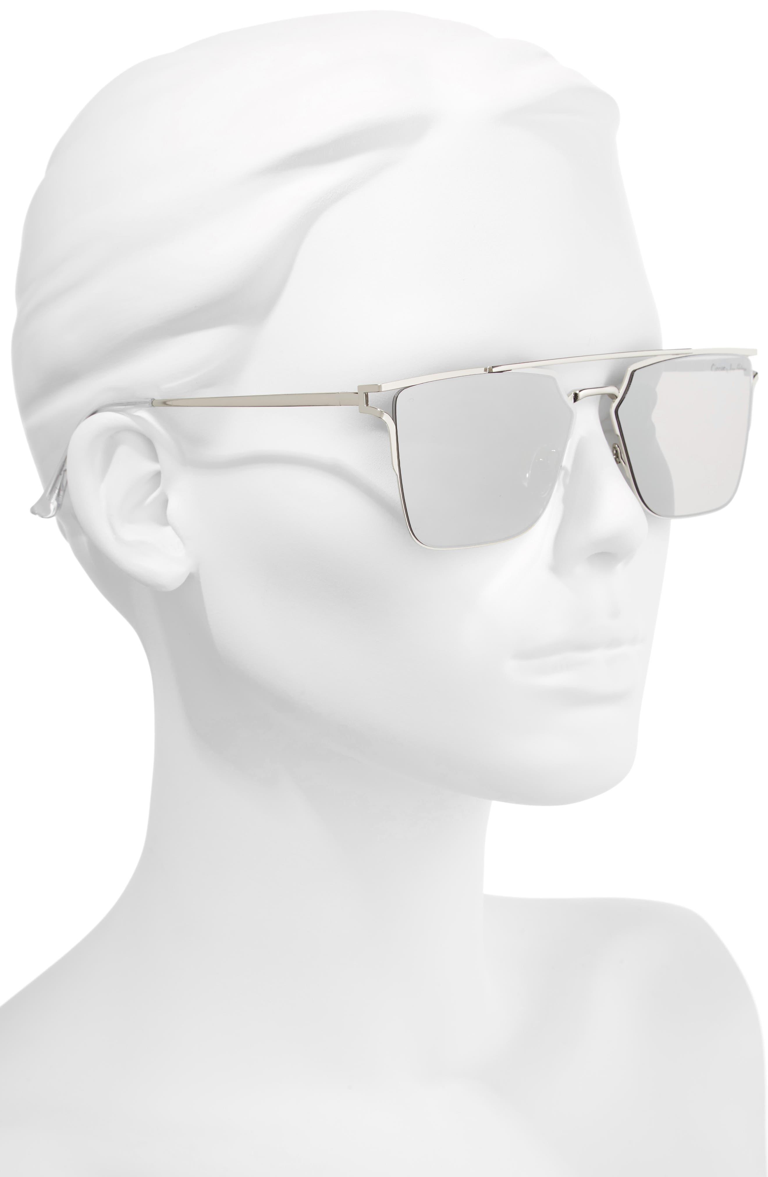 56mm Flat Top Sunglasses,                             Alternate thumbnail 5, color,
