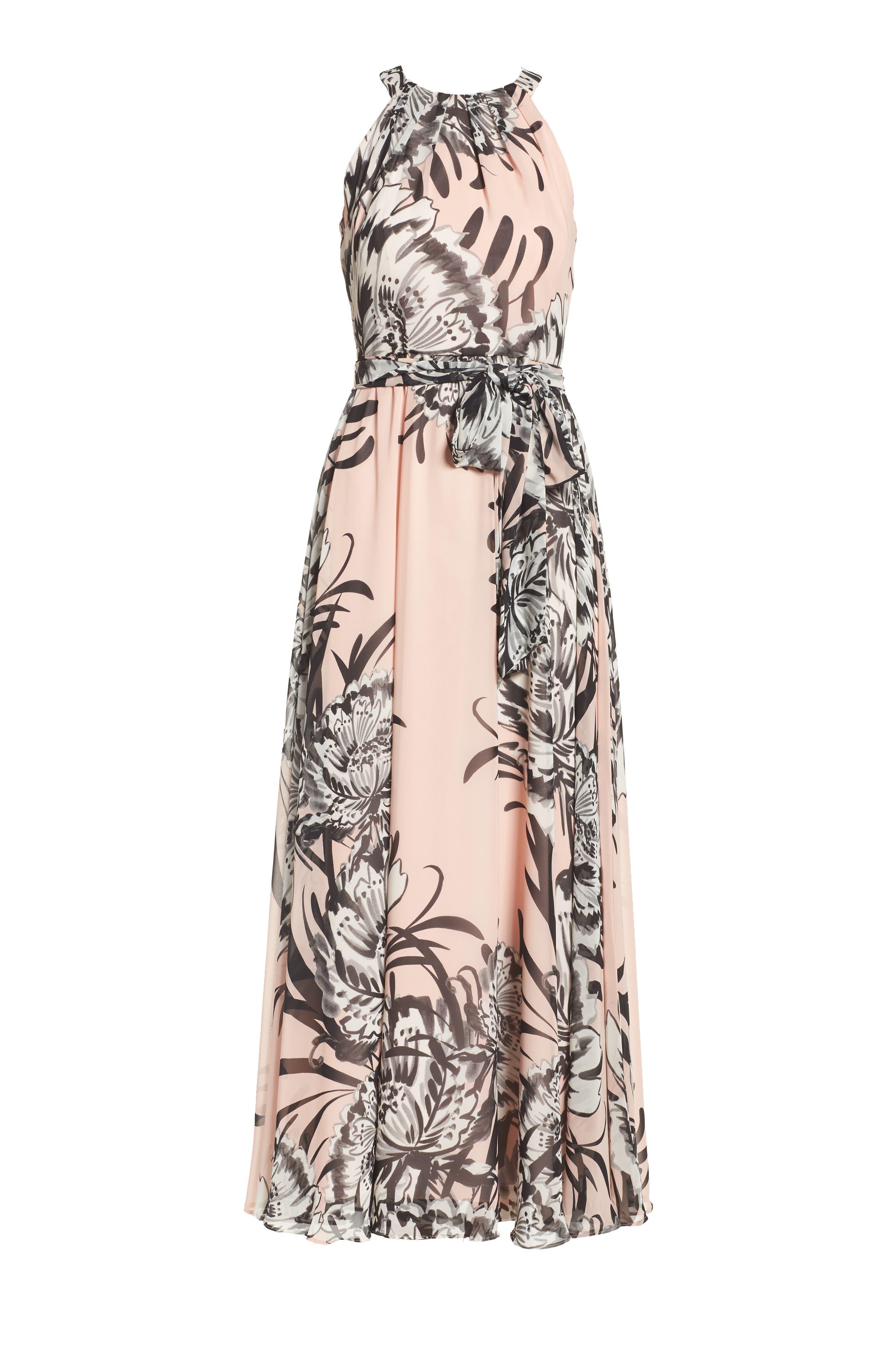 Chiffon Maxi Dress,                             Alternate thumbnail 8, color,                             BLUSH