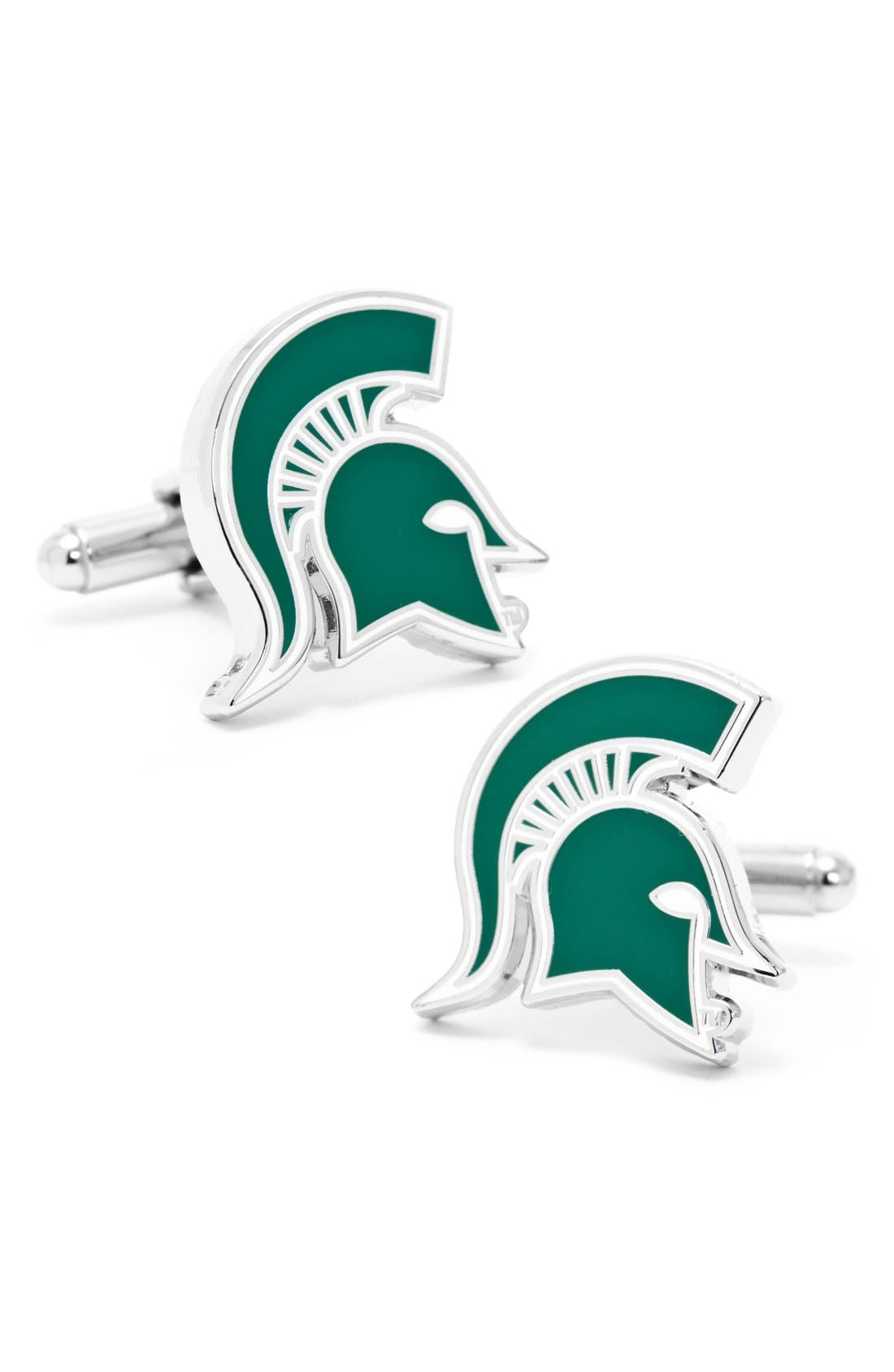 'Michigan State Spartans' Cuff Links,                             Main thumbnail 1, color,                             GREEN