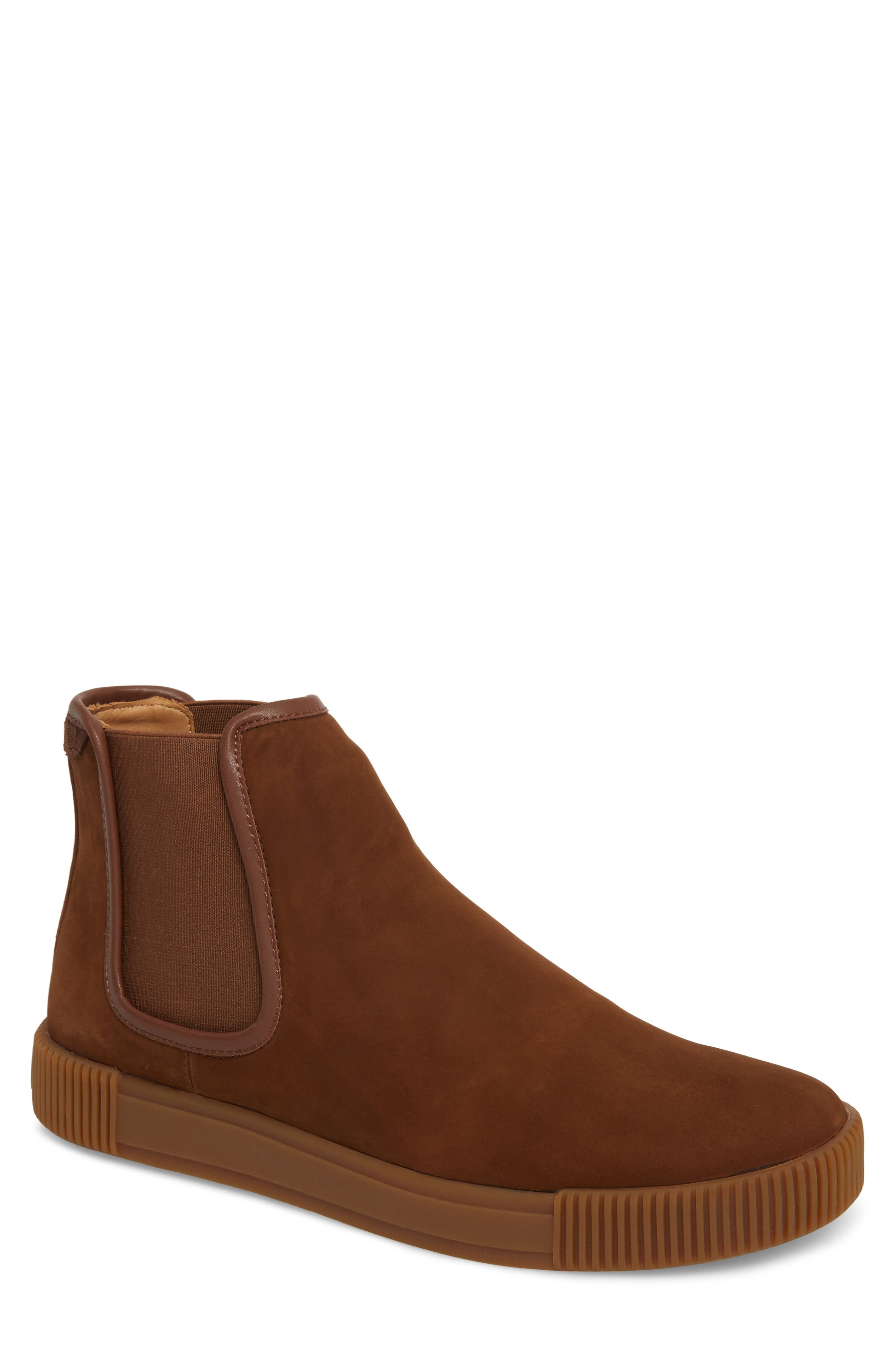 Lyons Chelsea Boot,                             Main thumbnail 1, color,                             CHOCOLATE SUEDE