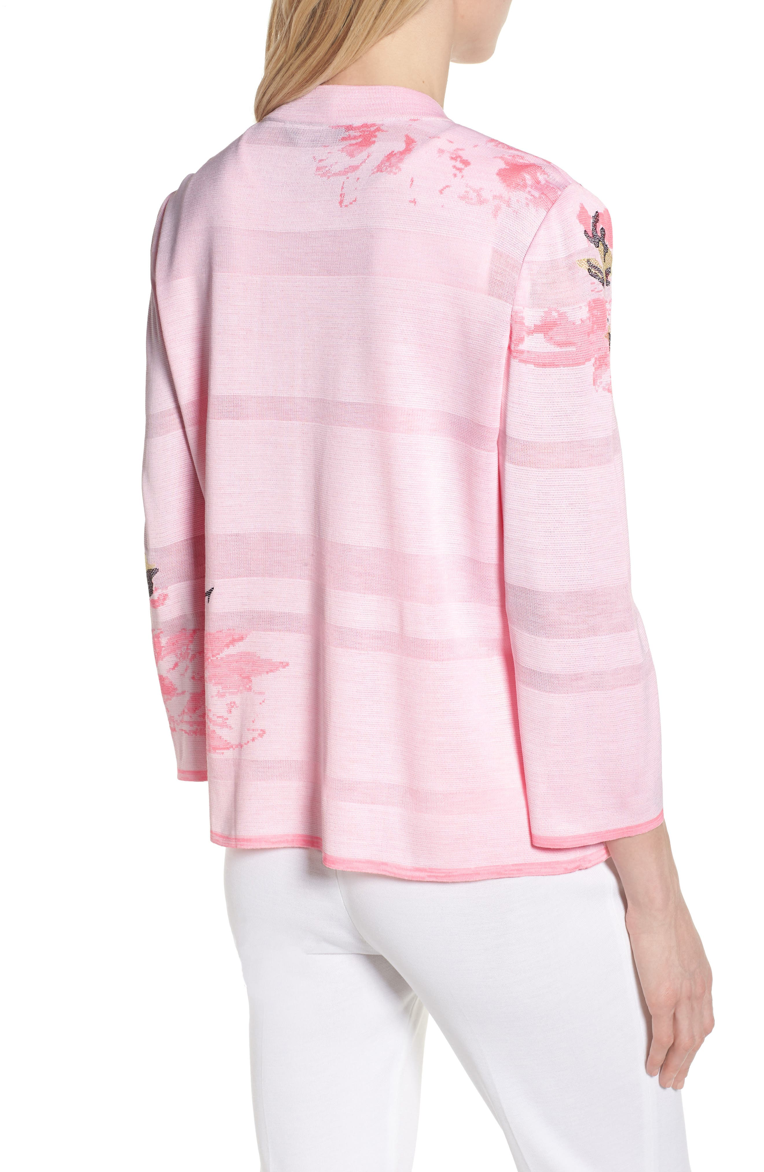 Floral Knit Jacket,                             Alternate thumbnail 2, color,                             MULTI