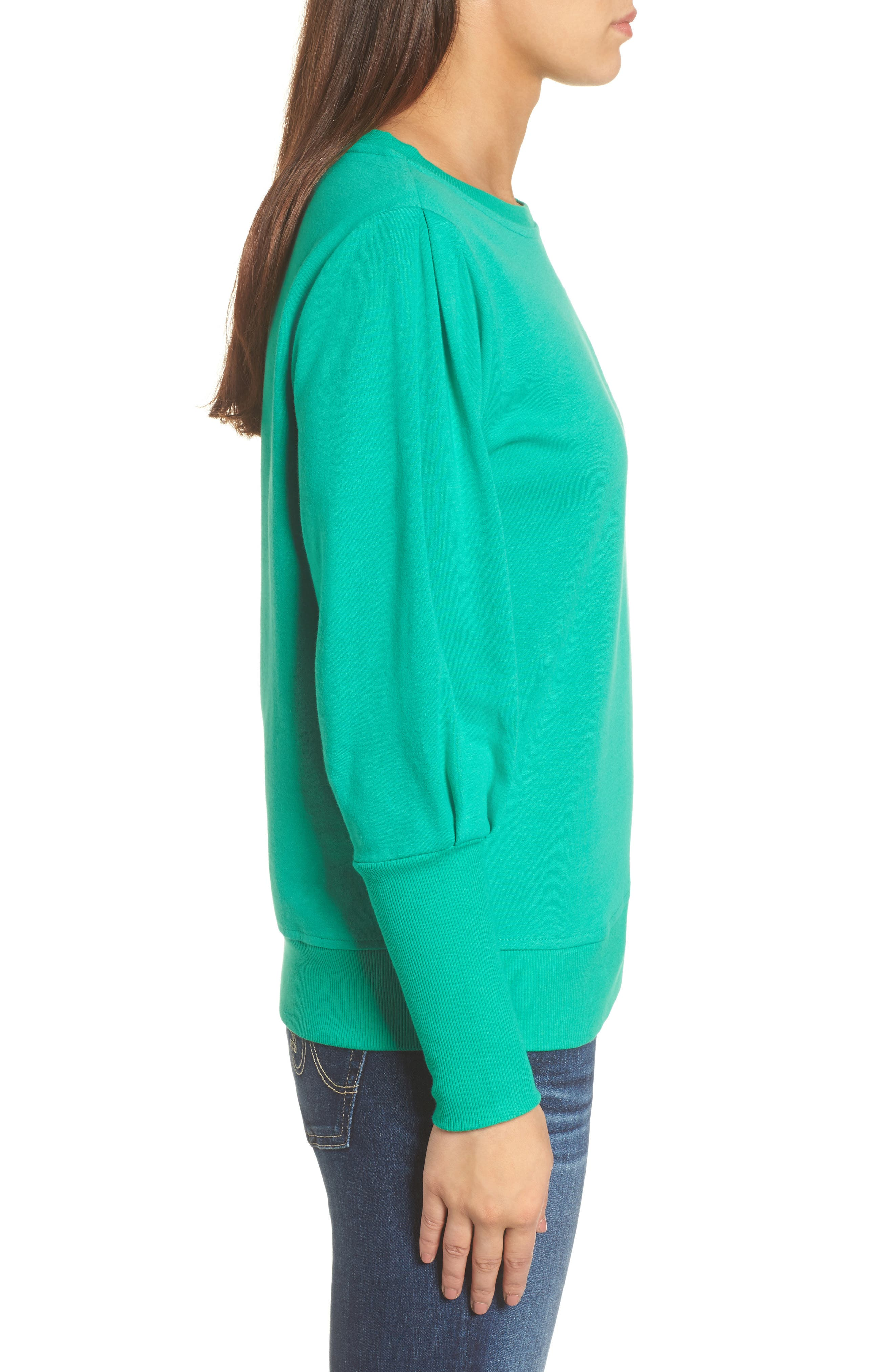 Blouson Sleeve Sweatshirt,                             Alternate thumbnail 13, color,