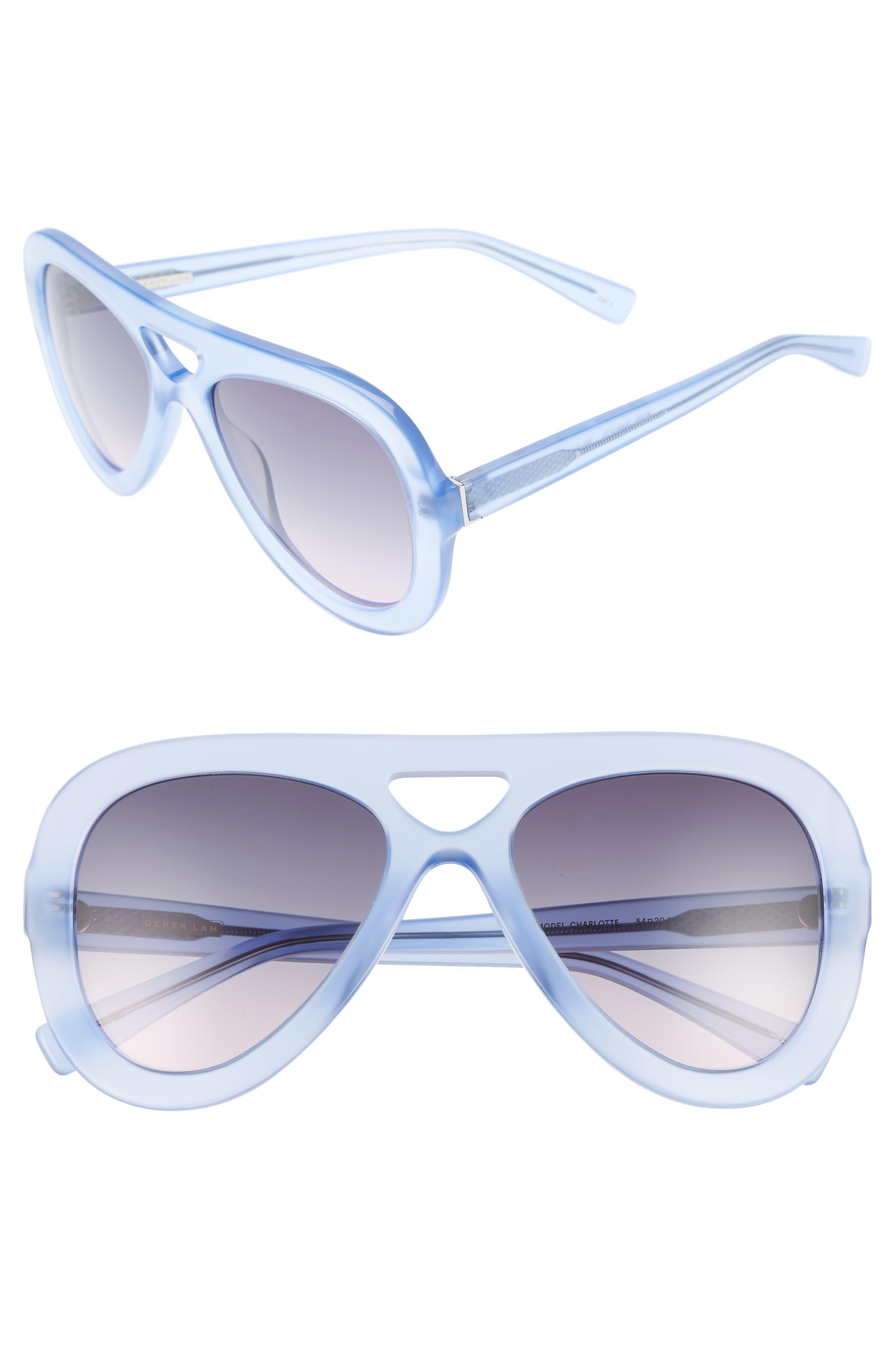 54mm Aviator Sunglasses,                             Main thumbnail 1, color,                             IRIS