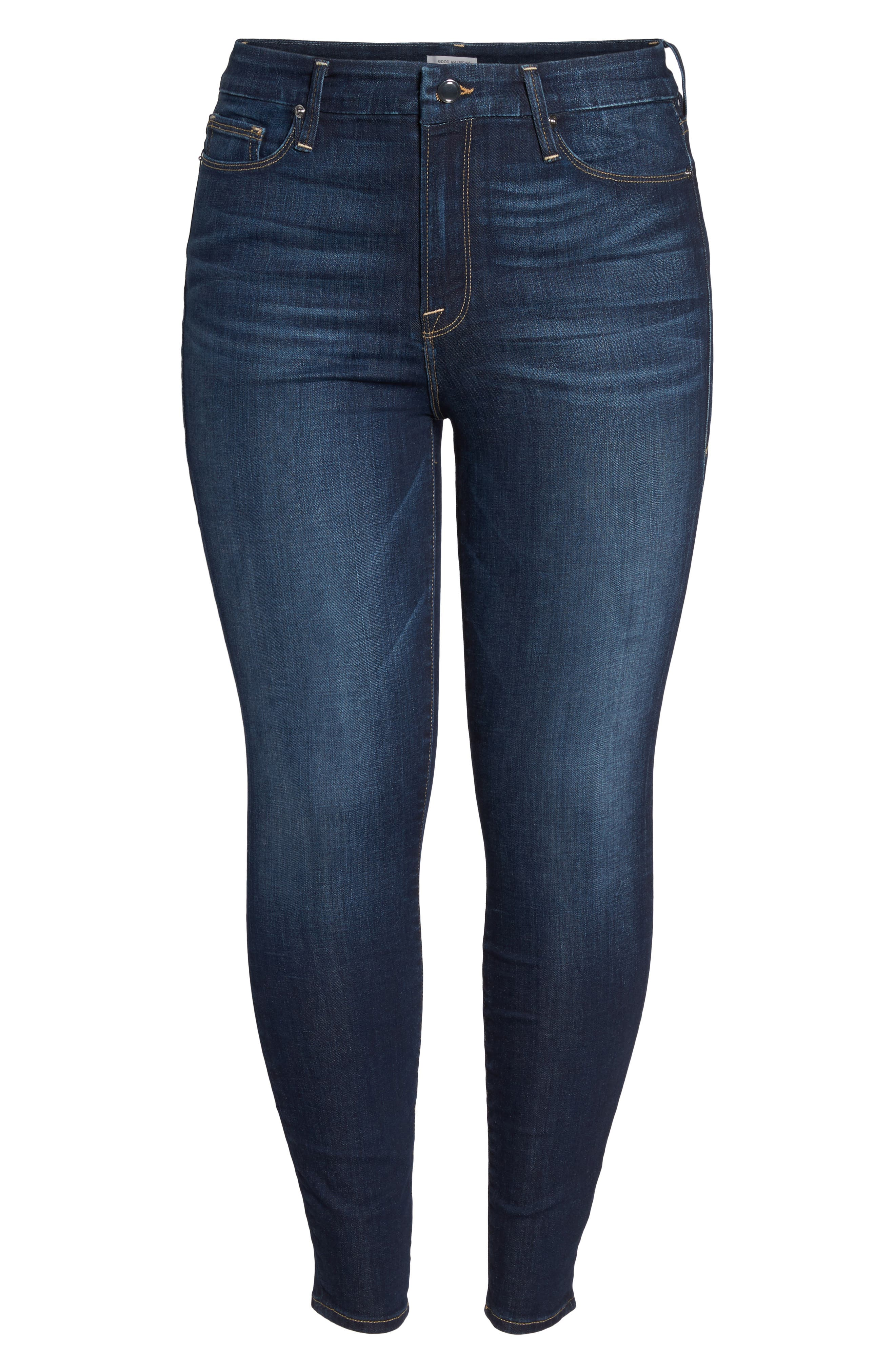 Good Legs High Waist Skinny Jeans,                             Alternate thumbnail 6, color,                             404