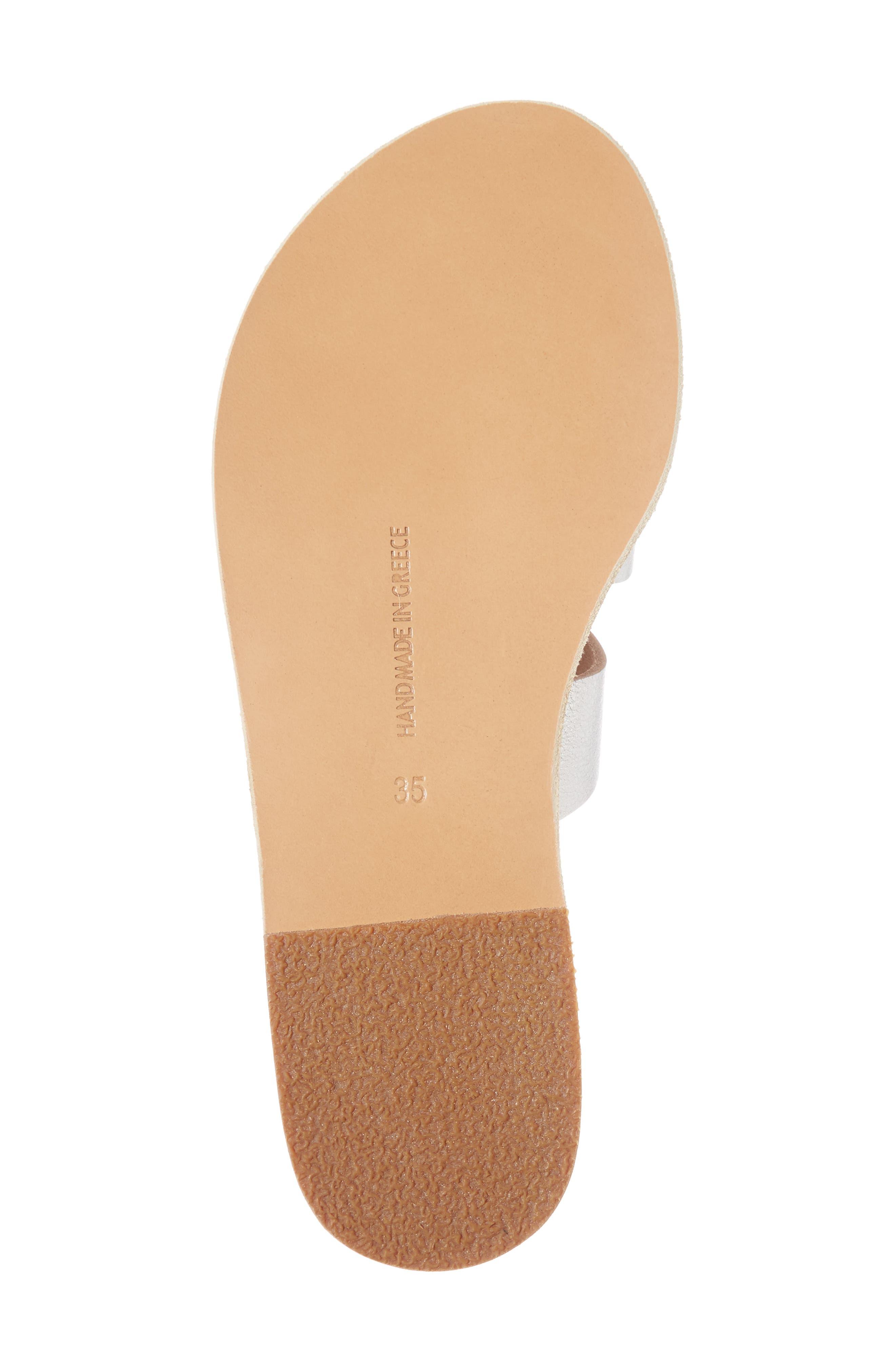 Apteros Slide Sandal,                             Alternate thumbnail 6, color,                             METAL SILVER