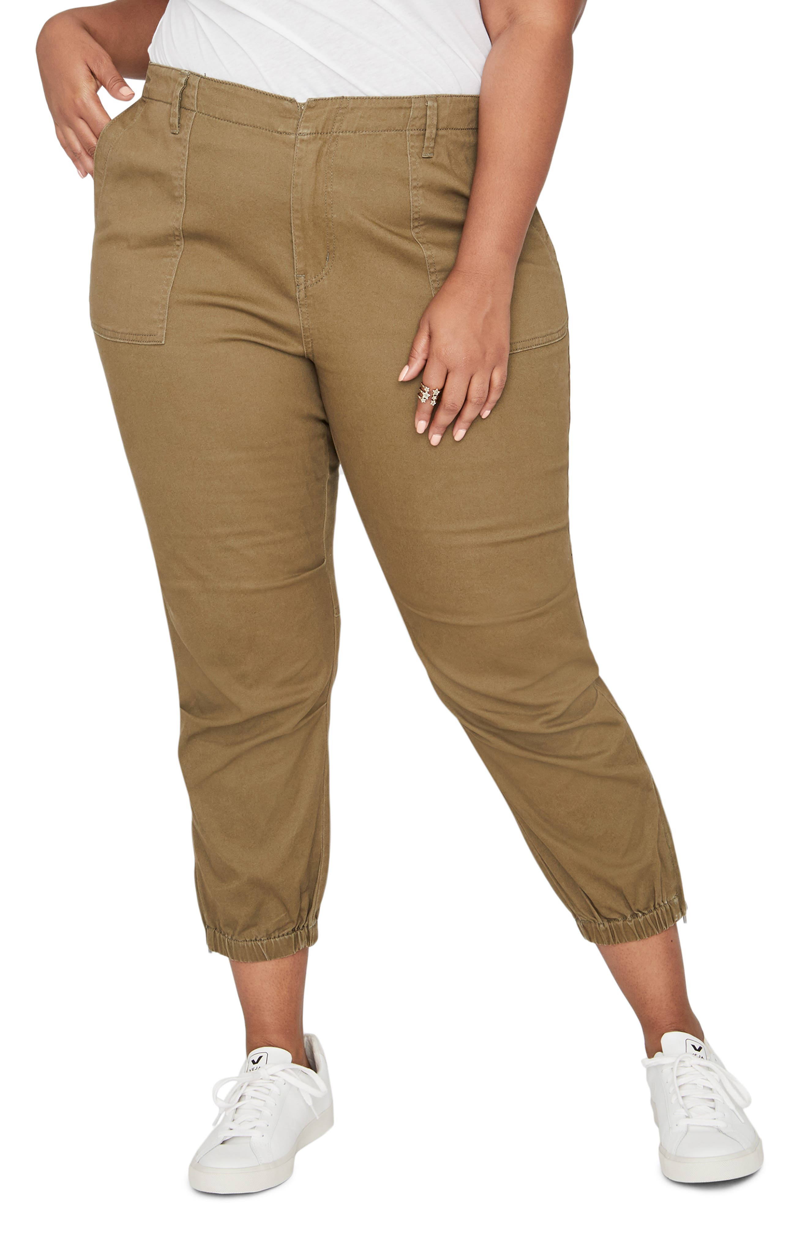 Army High Rise Crop Military Pants,                             Main thumbnail 1, color,                             312