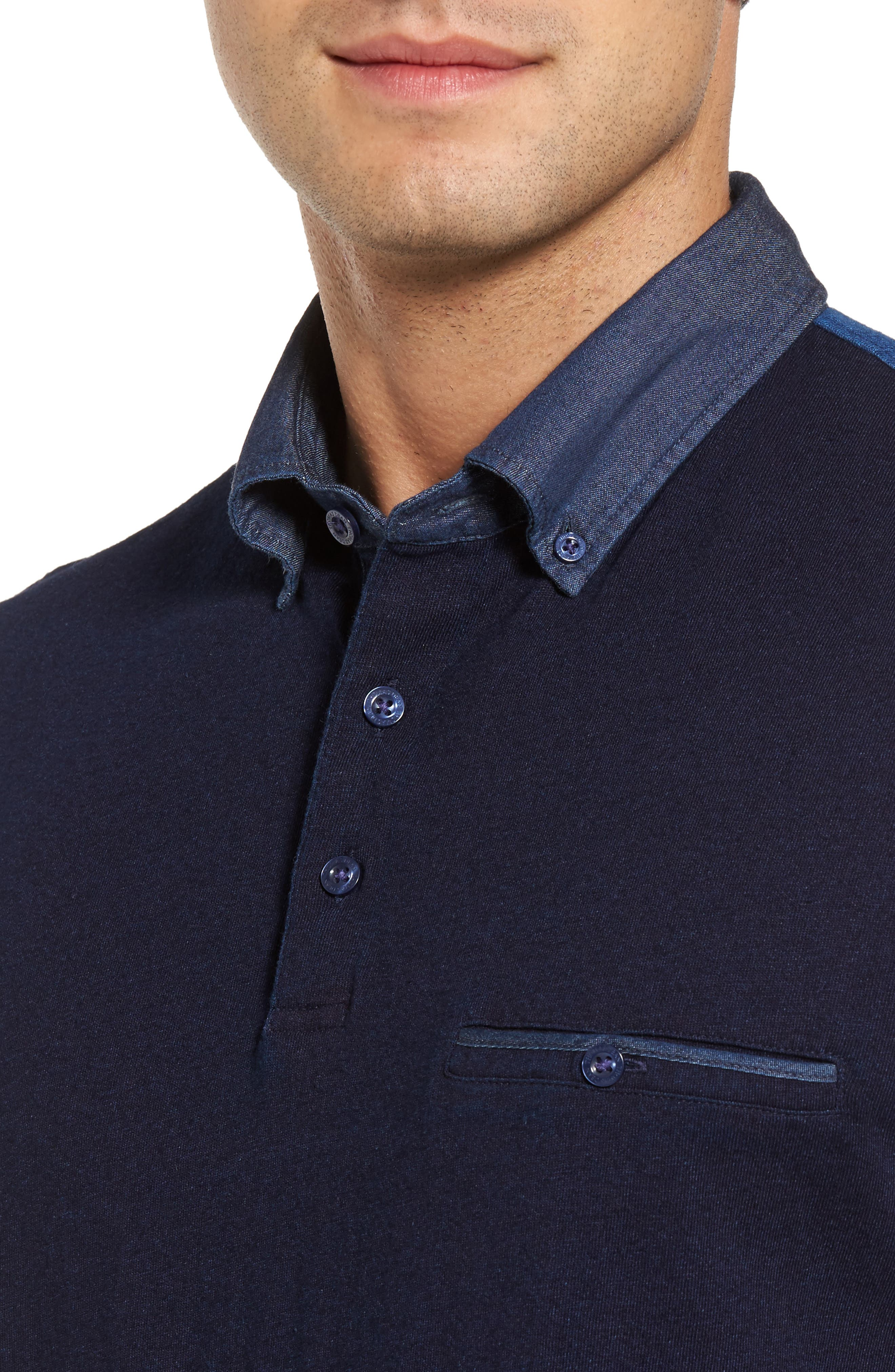 Colorblock Button Down Polo,                             Alternate thumbnail 4, color,                             439