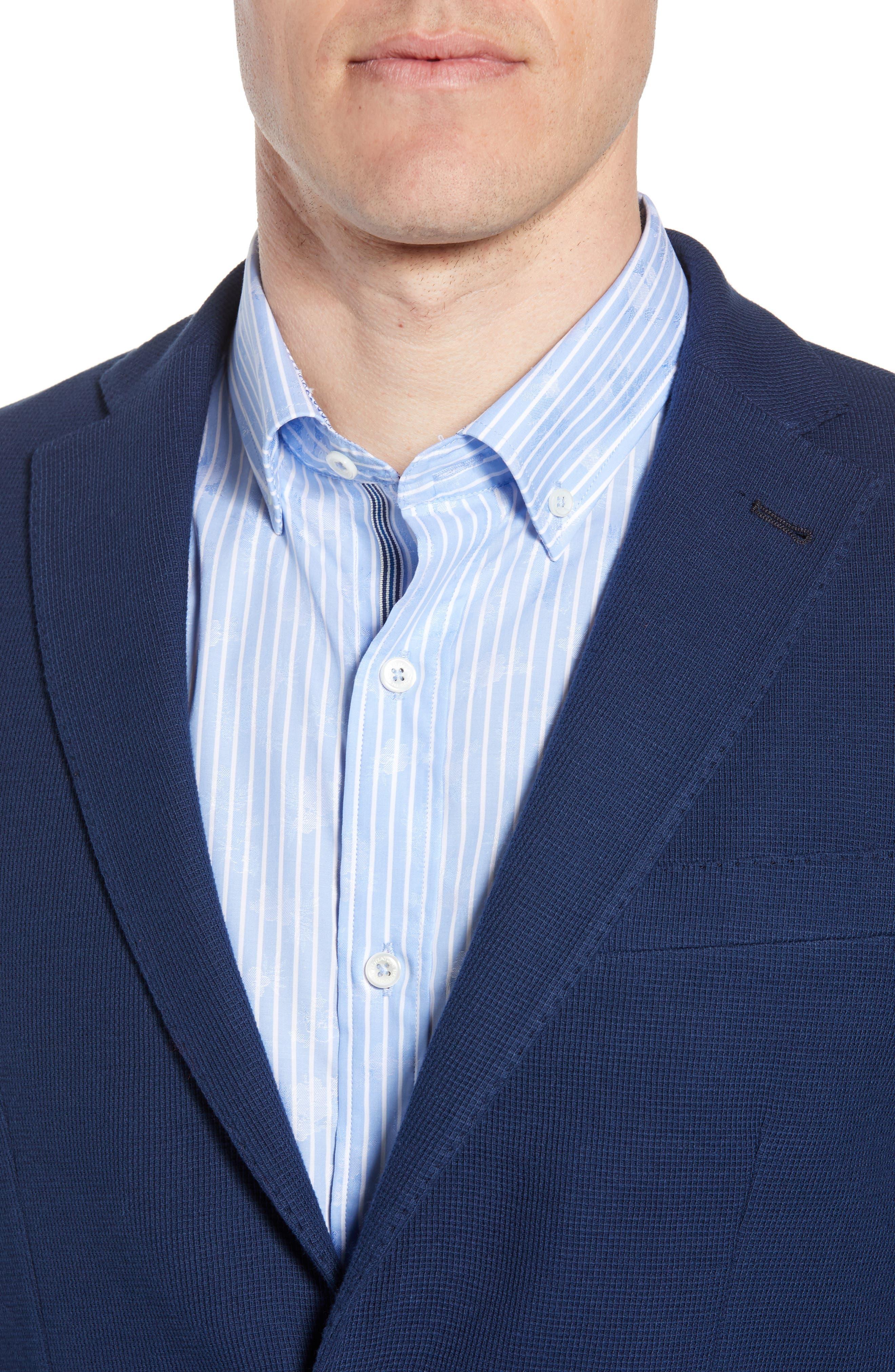 BUGATCHI,                             Regular Fit Cotton Piqué Blazer,                             Alternate thumbnail 4, color,                             411