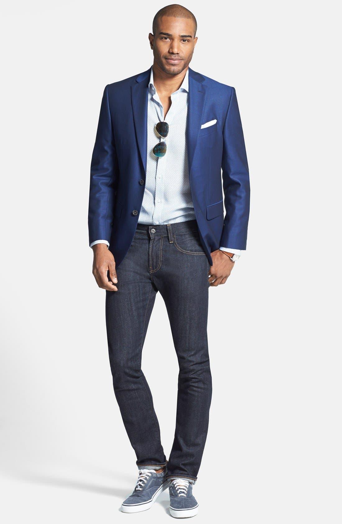 AG,                             'Nomad' Skinny Fit Selvedge Jeans,                             Alternate thumbnail 4, color,                             405