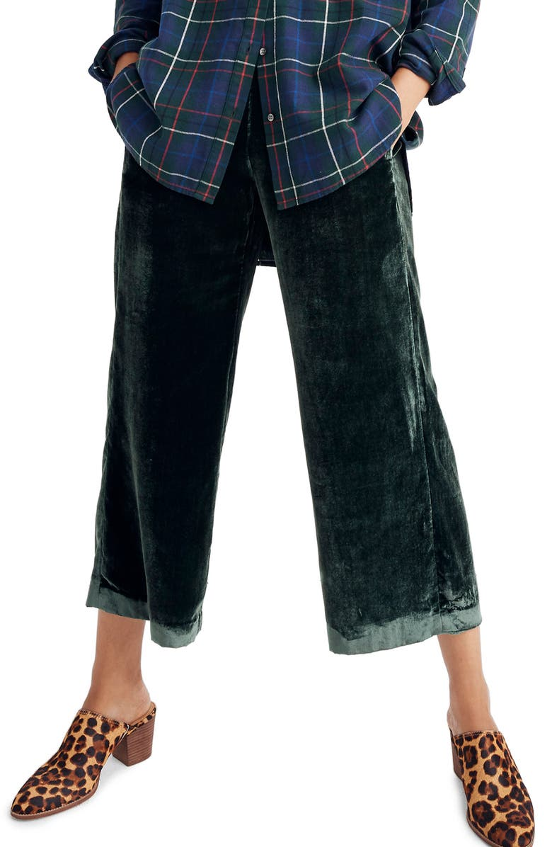 5d9c9ac5c1 Madewell Velvet Huston Pull-On Crop Pants (Regular   Plus)