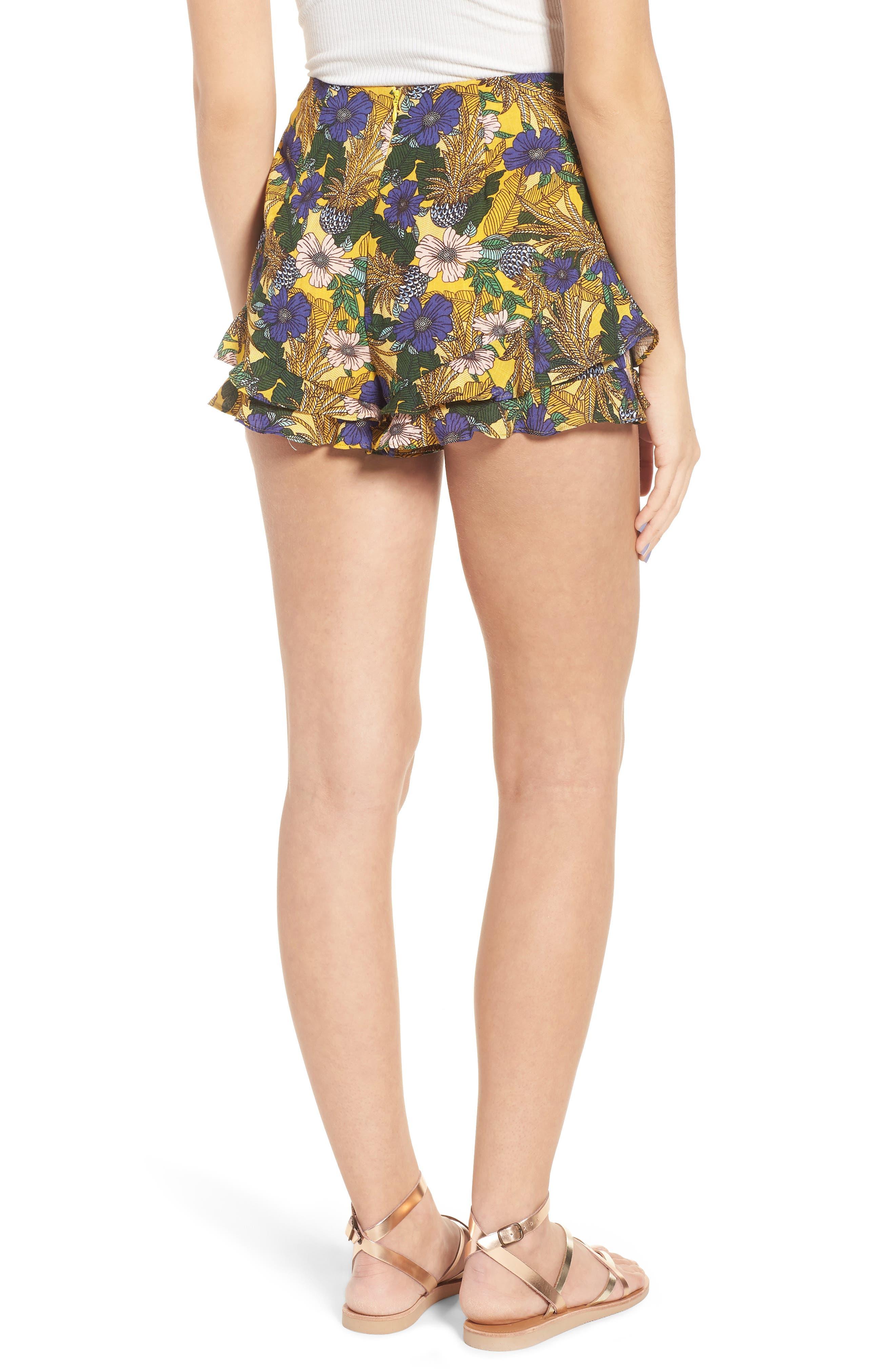 Isla Print Ruffle Shorts,                             Alternate thumbnail 2, color,