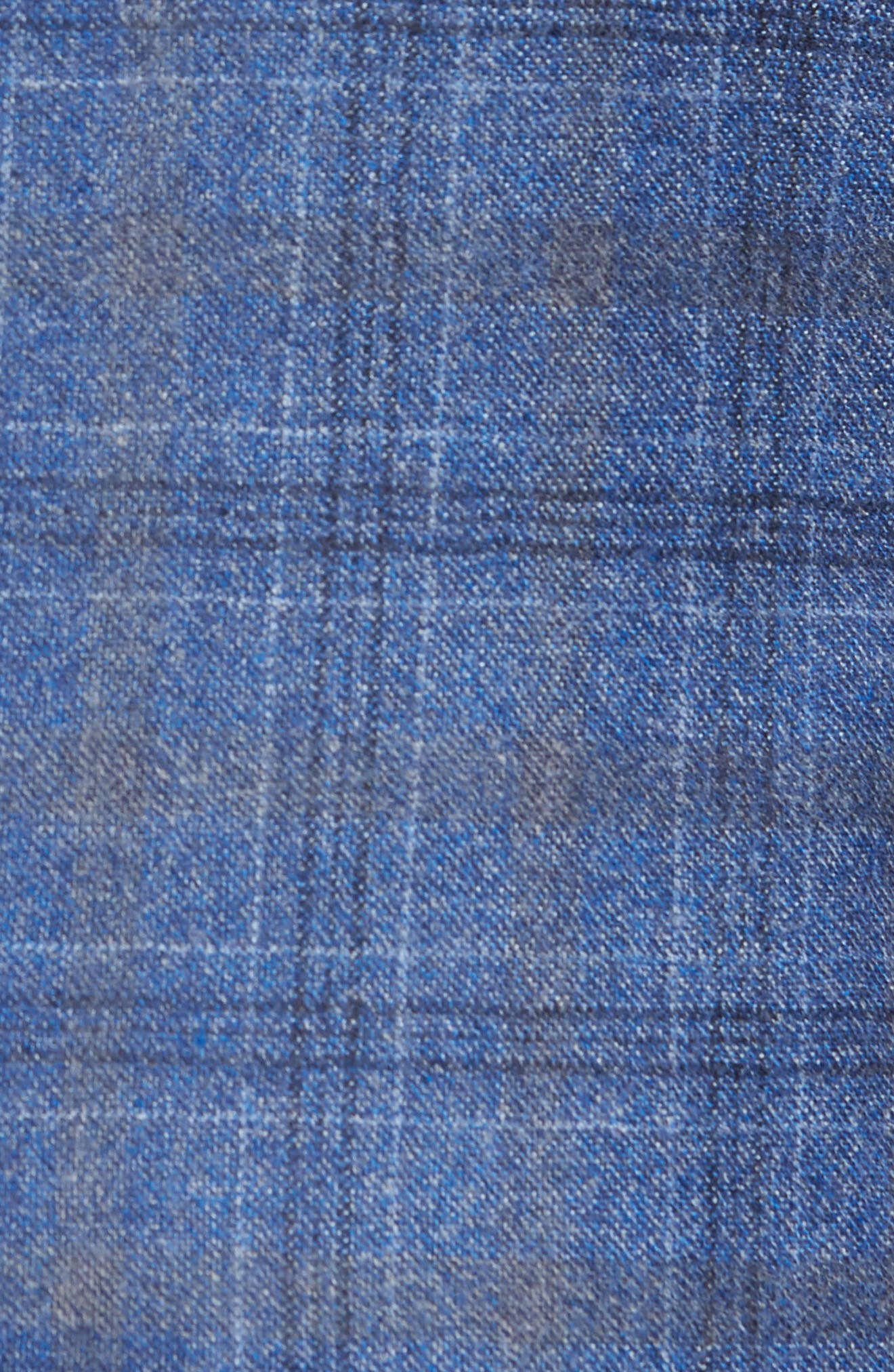 Konan Trim Fit Plaid Wool Sport Coat,                             Alternate thumbnail 6, color,                             BLUE