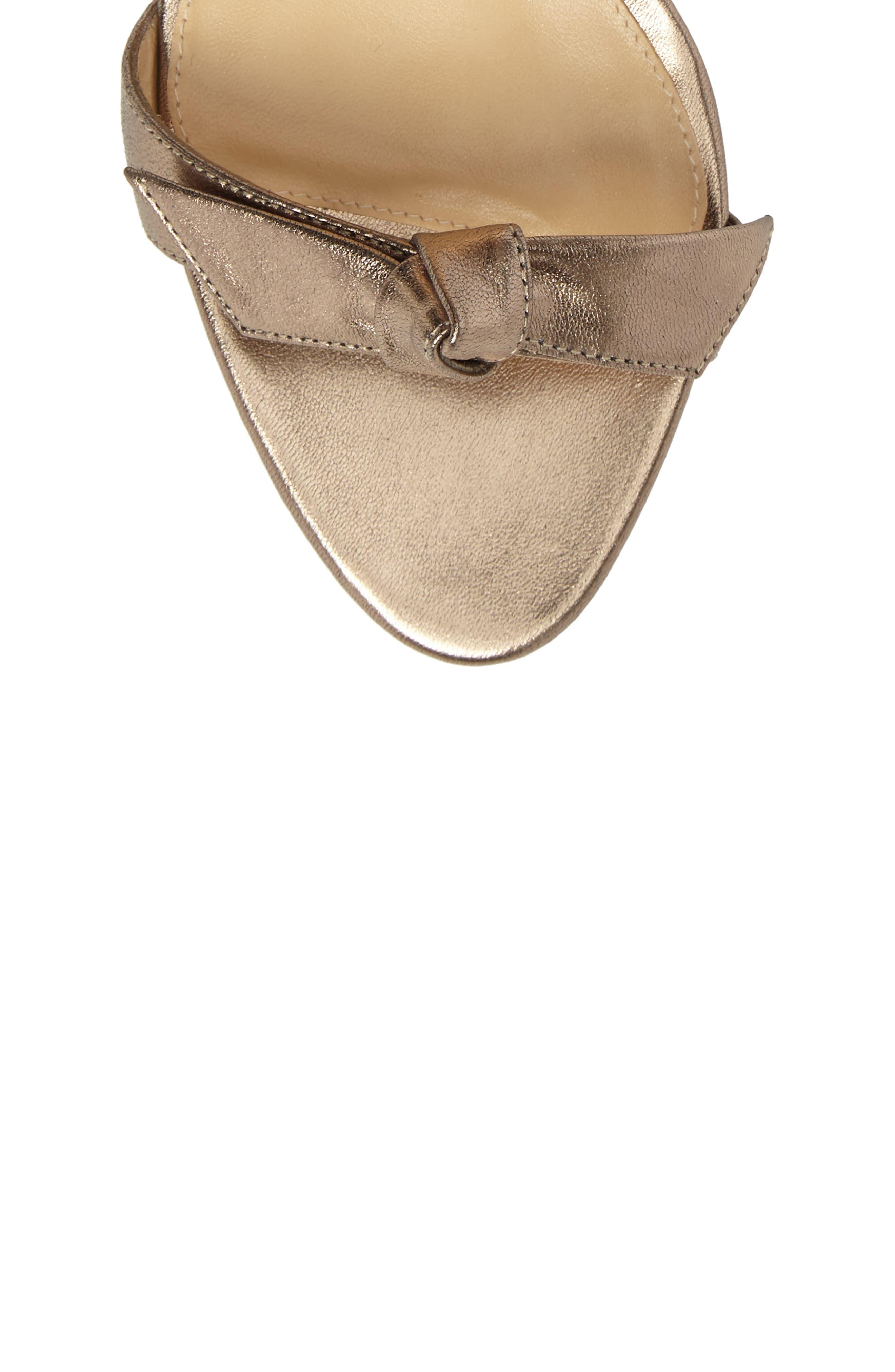 Clarita Ankle Tie Sandal,                             Alternate thumbnail 5, color,                             METALLIC GOLD LEATHER