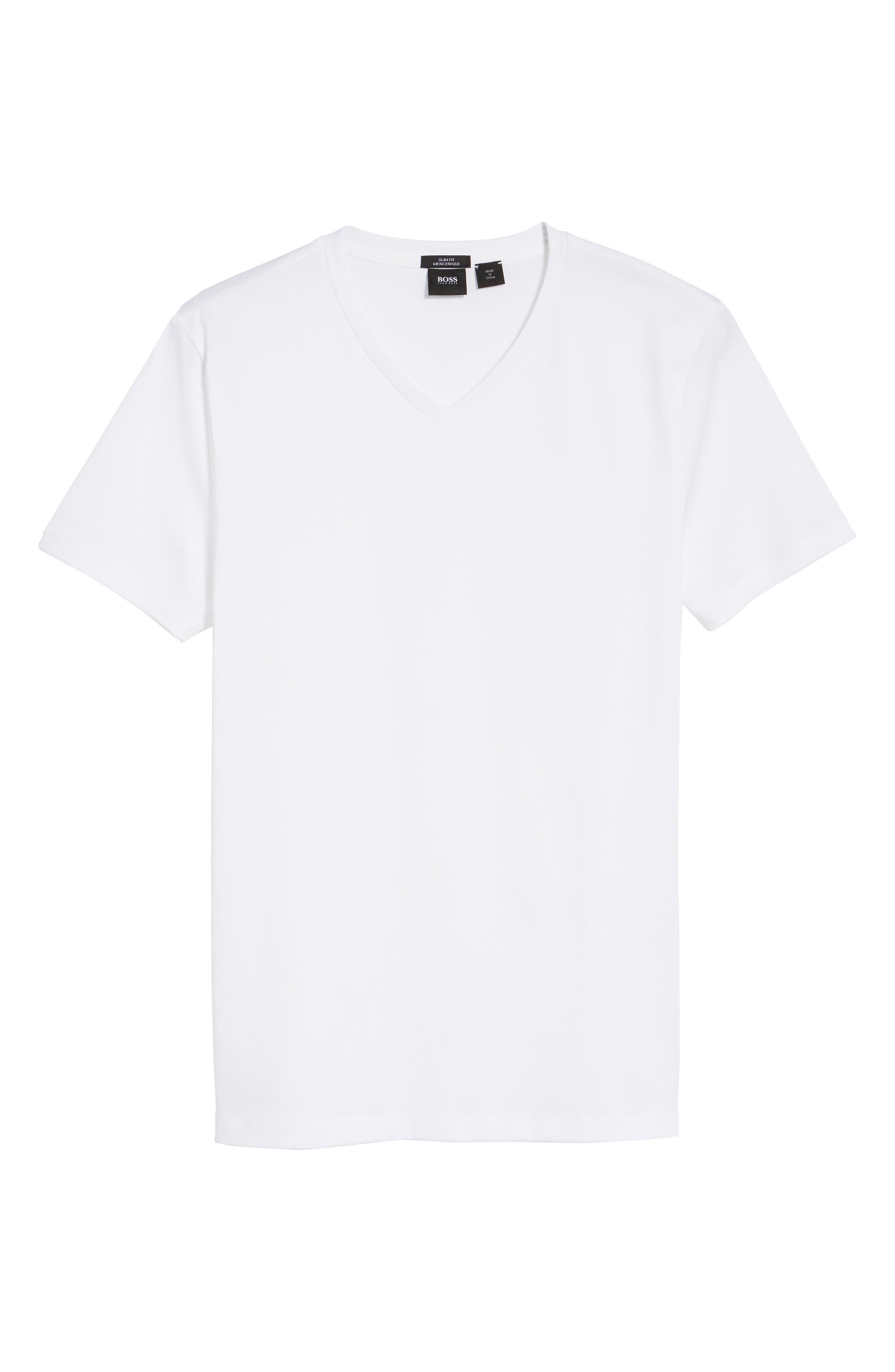 V-Neck T-Shirt,                             Alternate thumbnail 6, color,                             WHITE