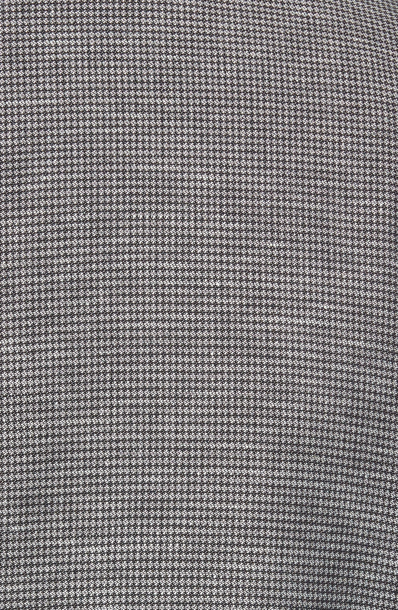 Classic Fit Houndstooth Linen & Cotton Sport Coat,                             Alternate thumbnail 6, color,                             005