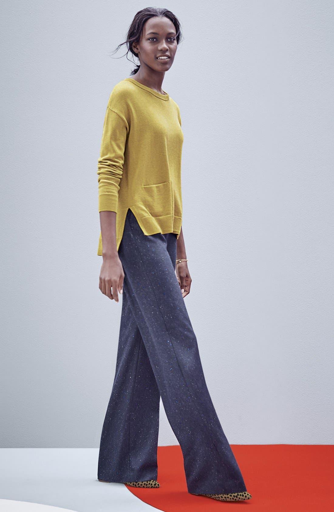 Drop Shoulder Pocket Sweater, Main, color, 440