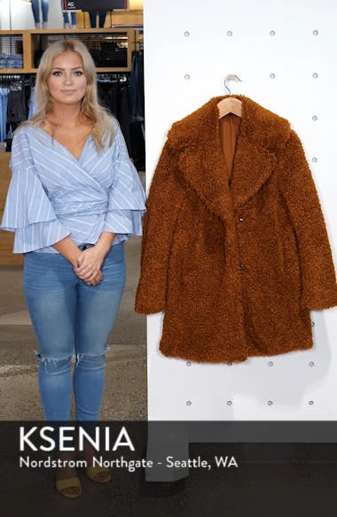 Faux Shearling Coat, sales video thumbnail