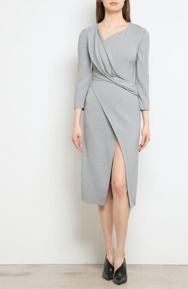 Wrap Panel Envelope Hem Dress, video thumbnail