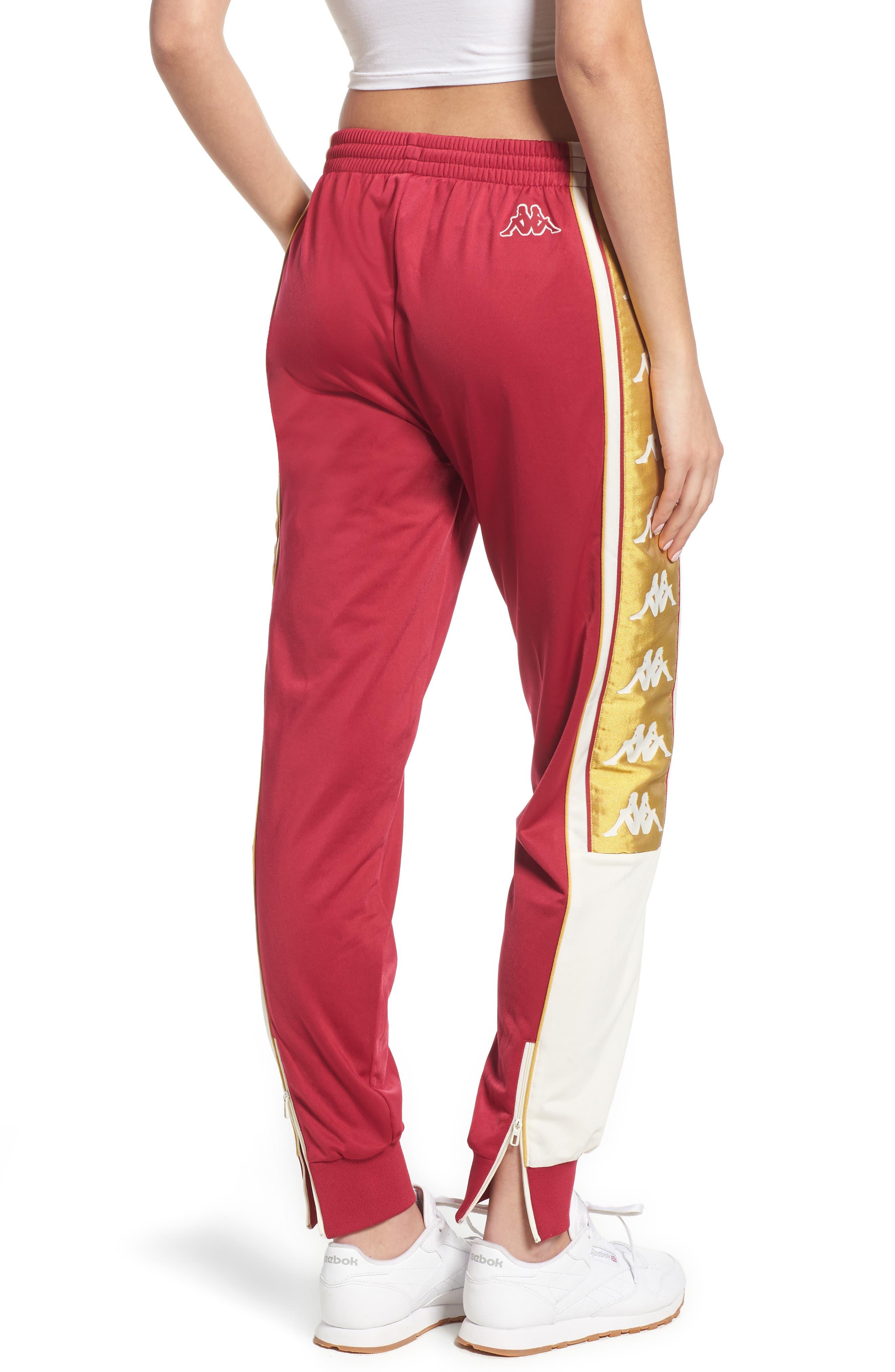 Track Pants,                             Alternate thumbnail 2, color,                             REDCERISE-WHITE-GOLD