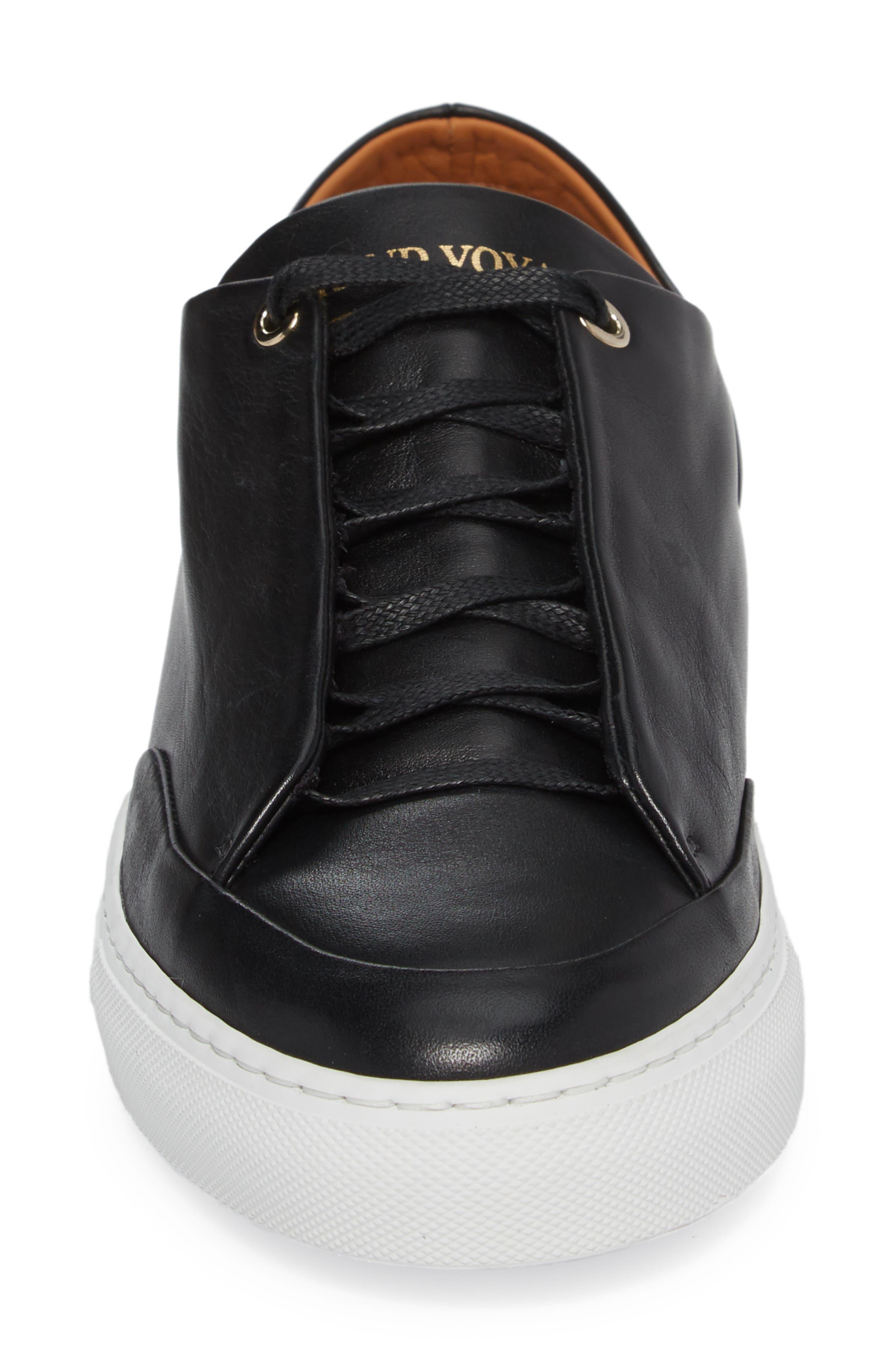 Avedon Sneaker,                             Alternate thumbnail 4, color,                             BLACK LEATHER