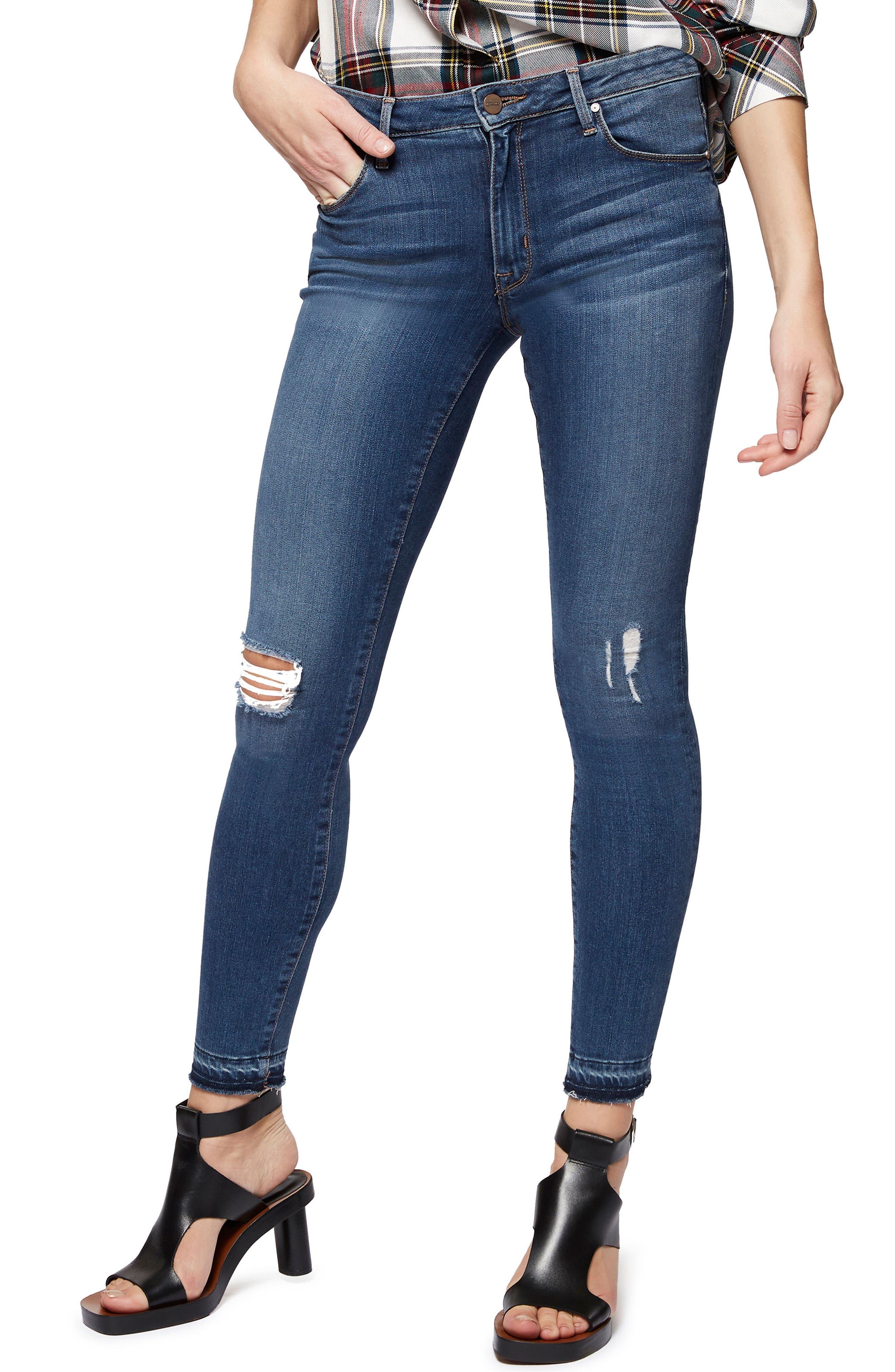 Robbie High Waist Skinny Jeans,                             Main thumbnail 1, color,                             421