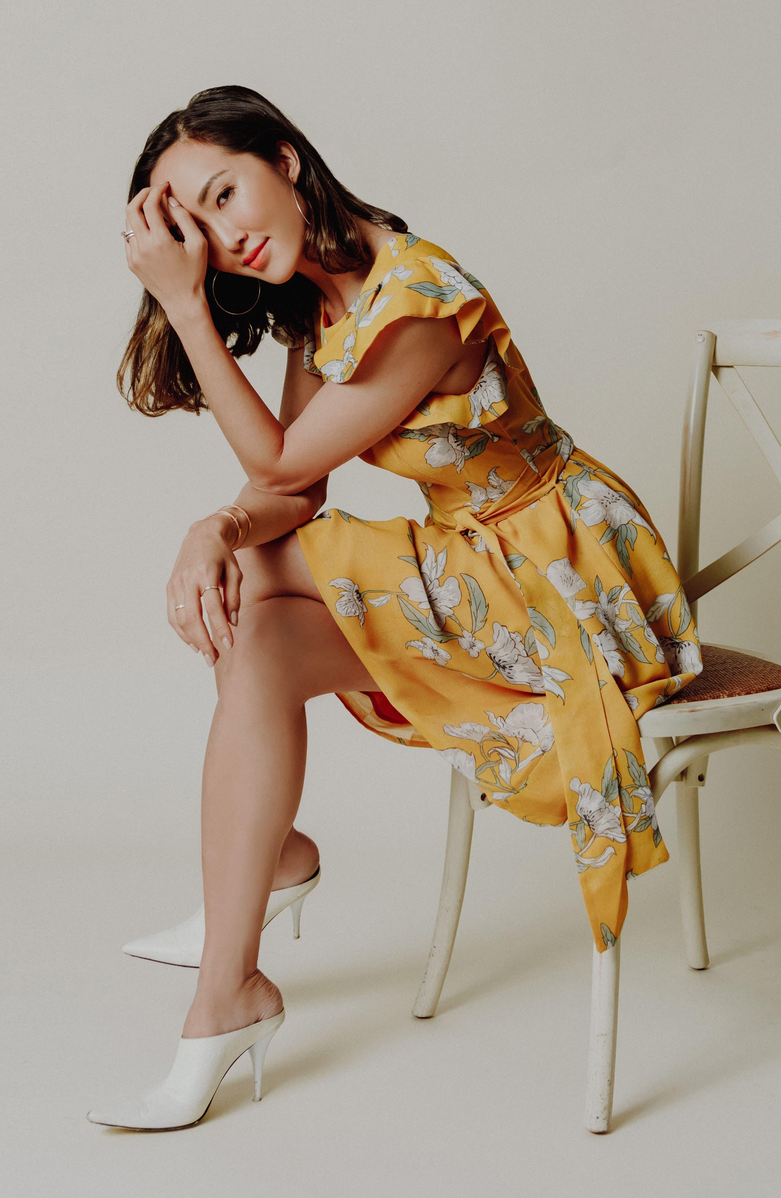 Chriselle x J.O.A. Fit & Flare Dress,                             Alternate thumbnail 8, color,                             700