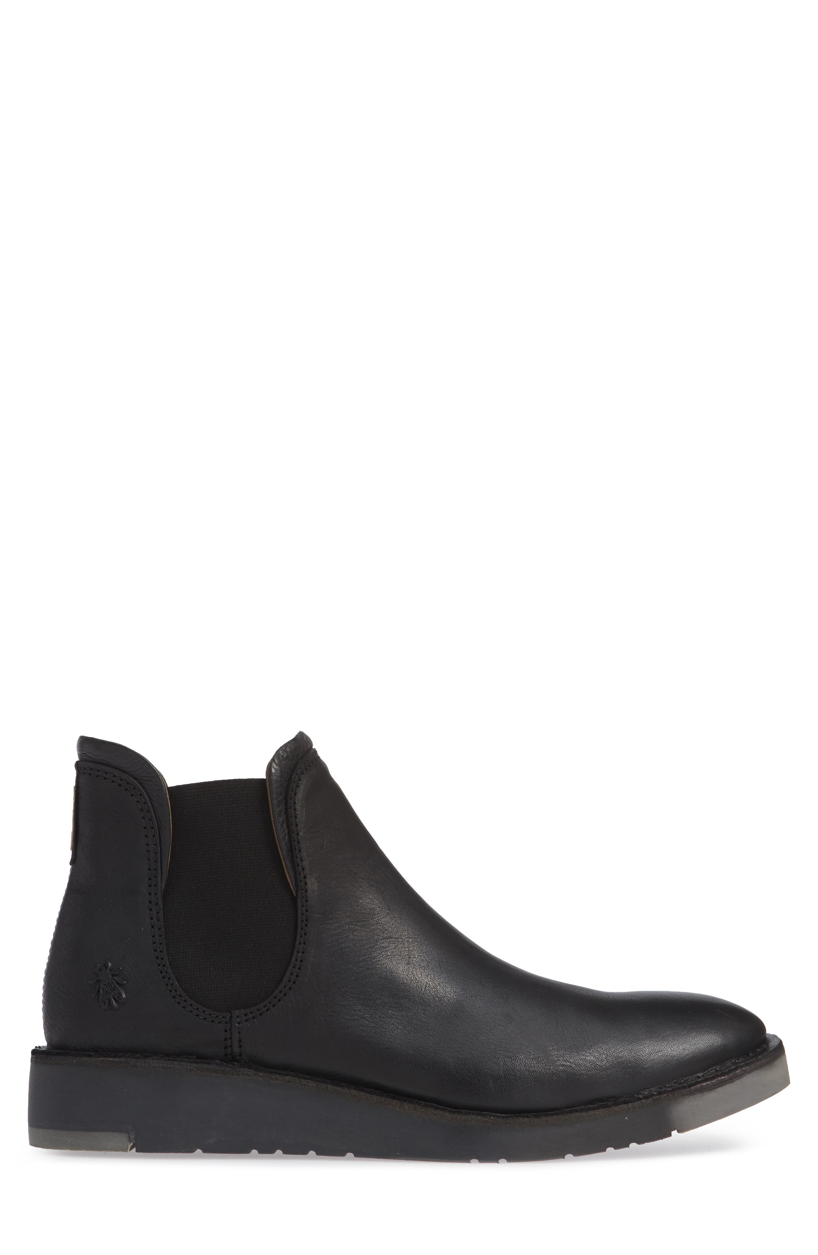 Sern Water Resistant Chelsea Boot,                             Alternate thumbnail 3, color,                             BLACK APSO