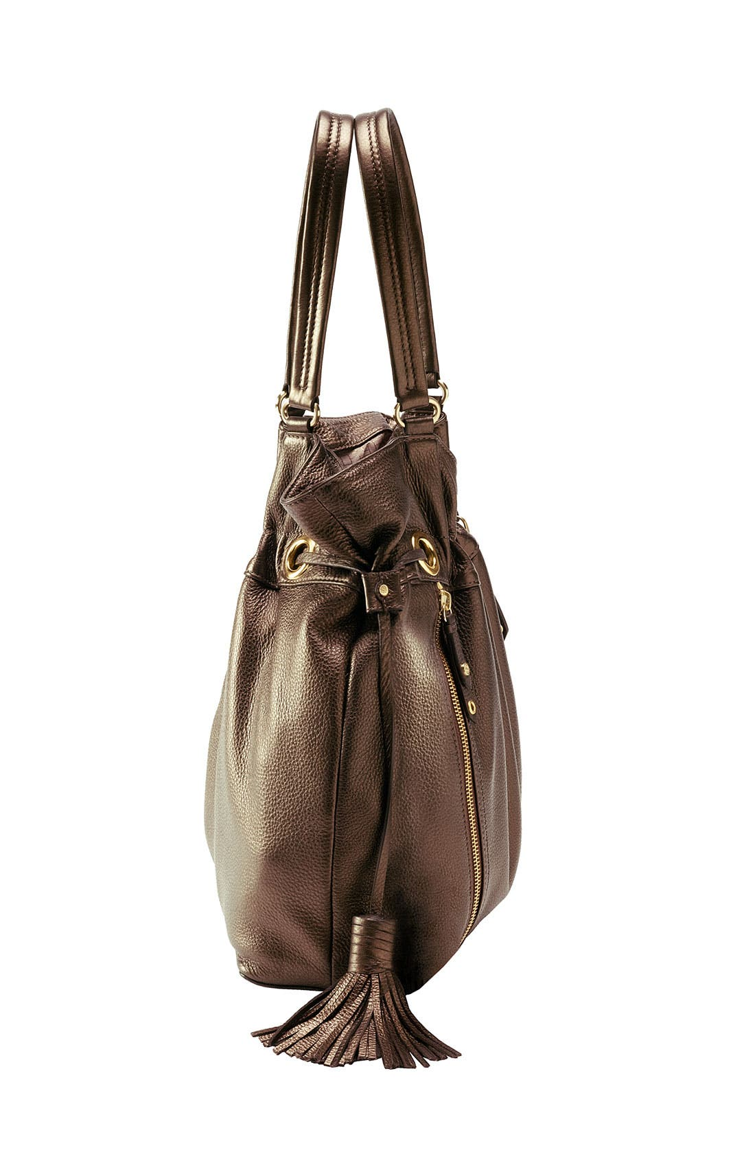 'Bailey' Pebbled Leather Drawstring Tote,                             Alternate thumbnail 18, color,