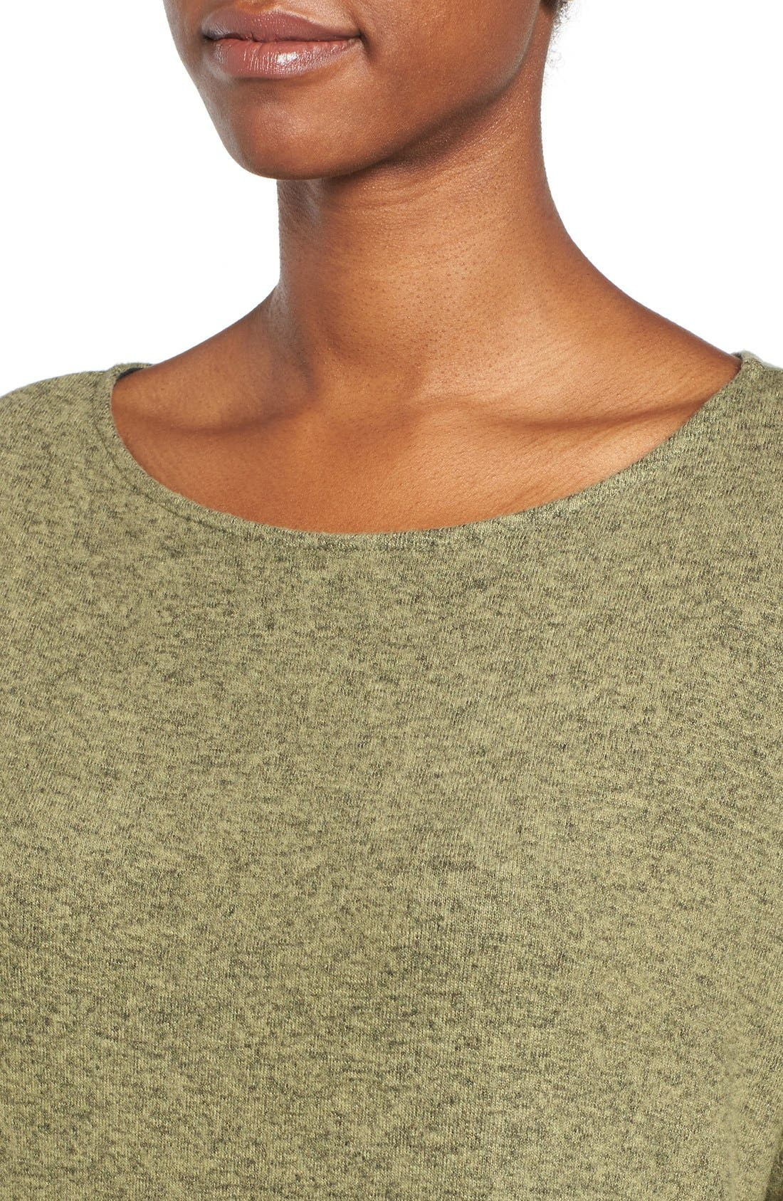 Cozy Ballet Neck High/Low Pullover,                             Alternate thumbnail 80, color,
