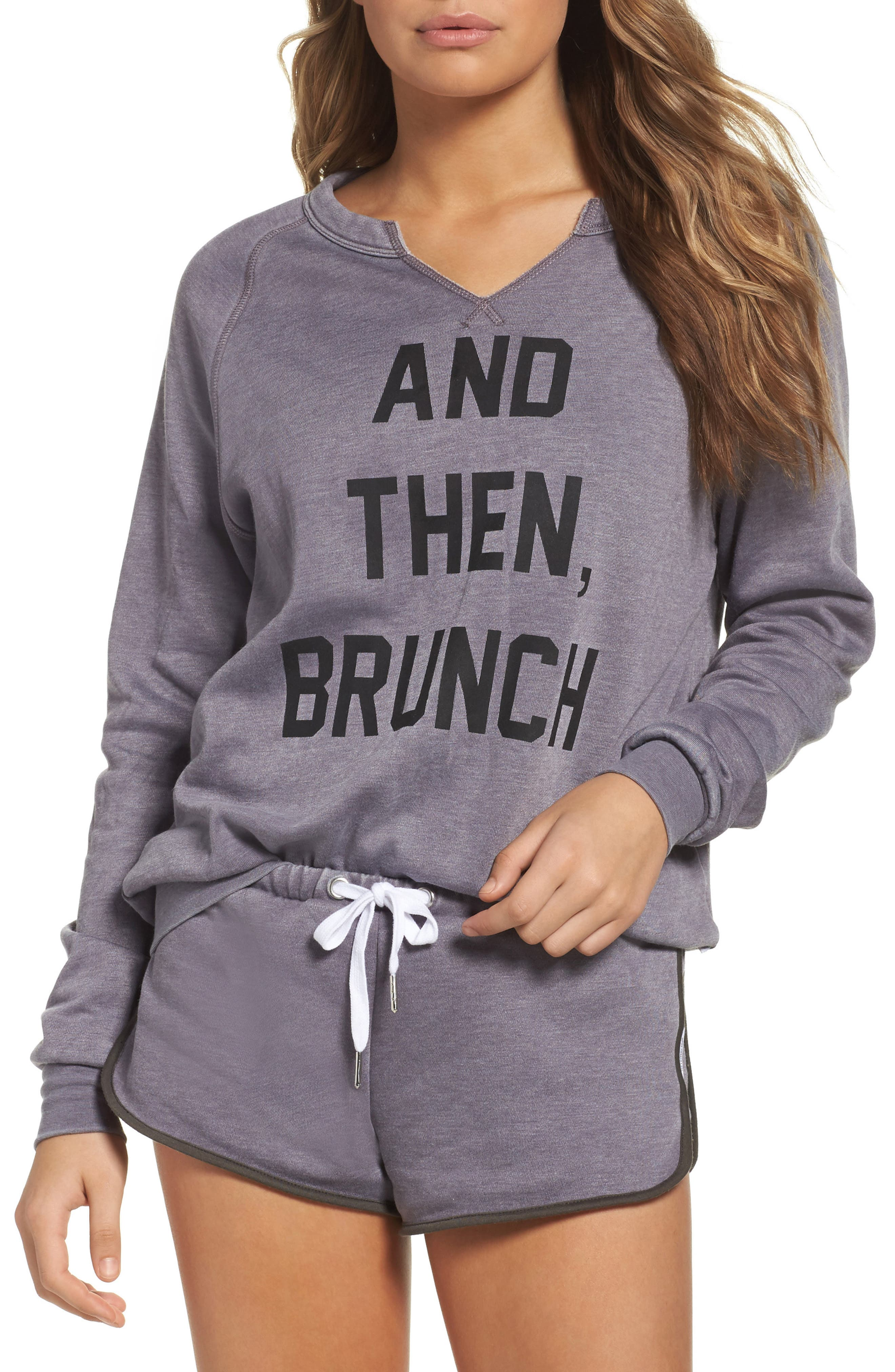 THE LAUNDRY ROOM And Then Brunch Sweatshirt, Main, color, 020