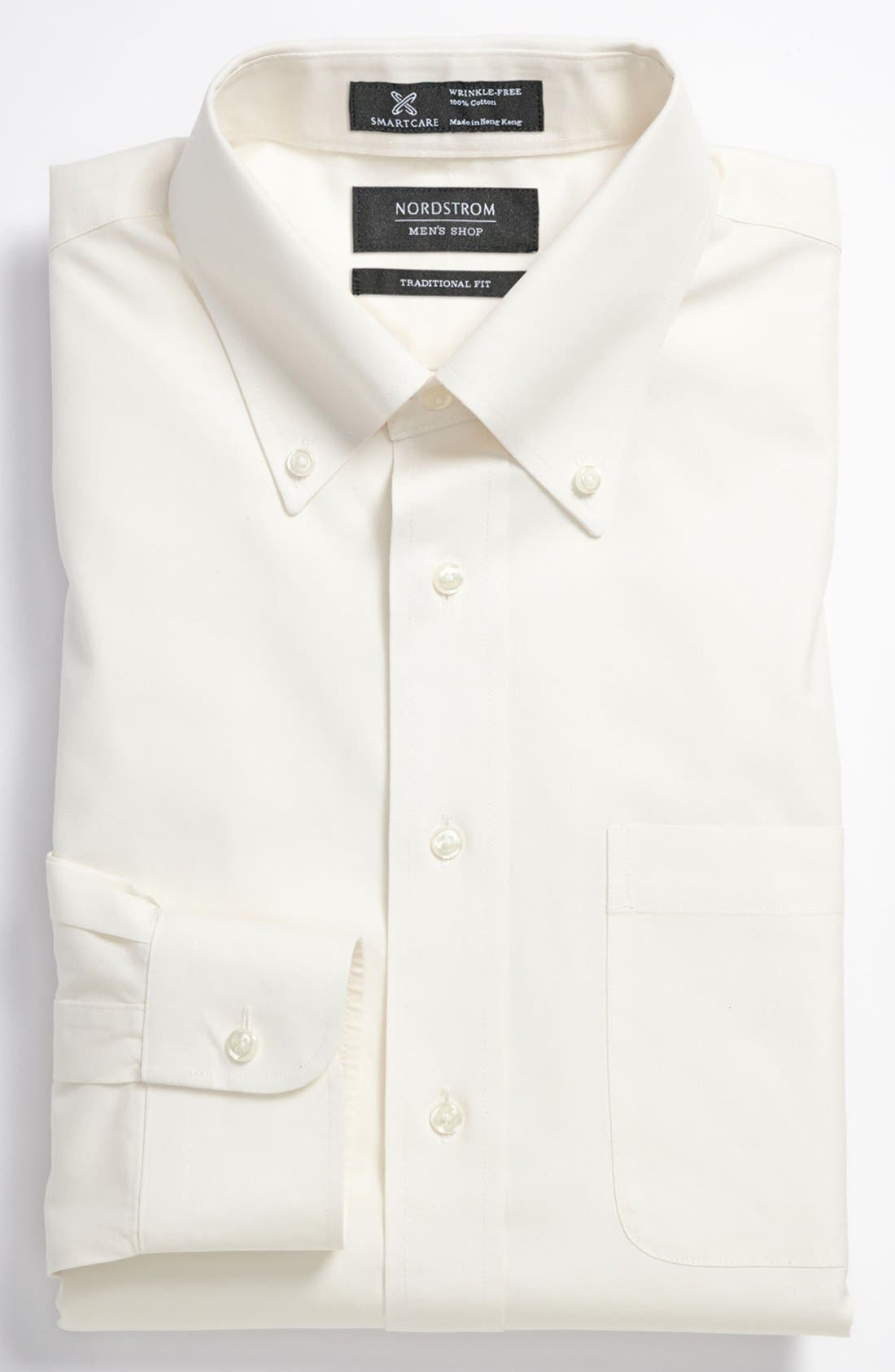 Smartcare<sup>™</sup> Traditional Fit Pinpoint Dress Shirt,                             Main thumbnail 8, color,