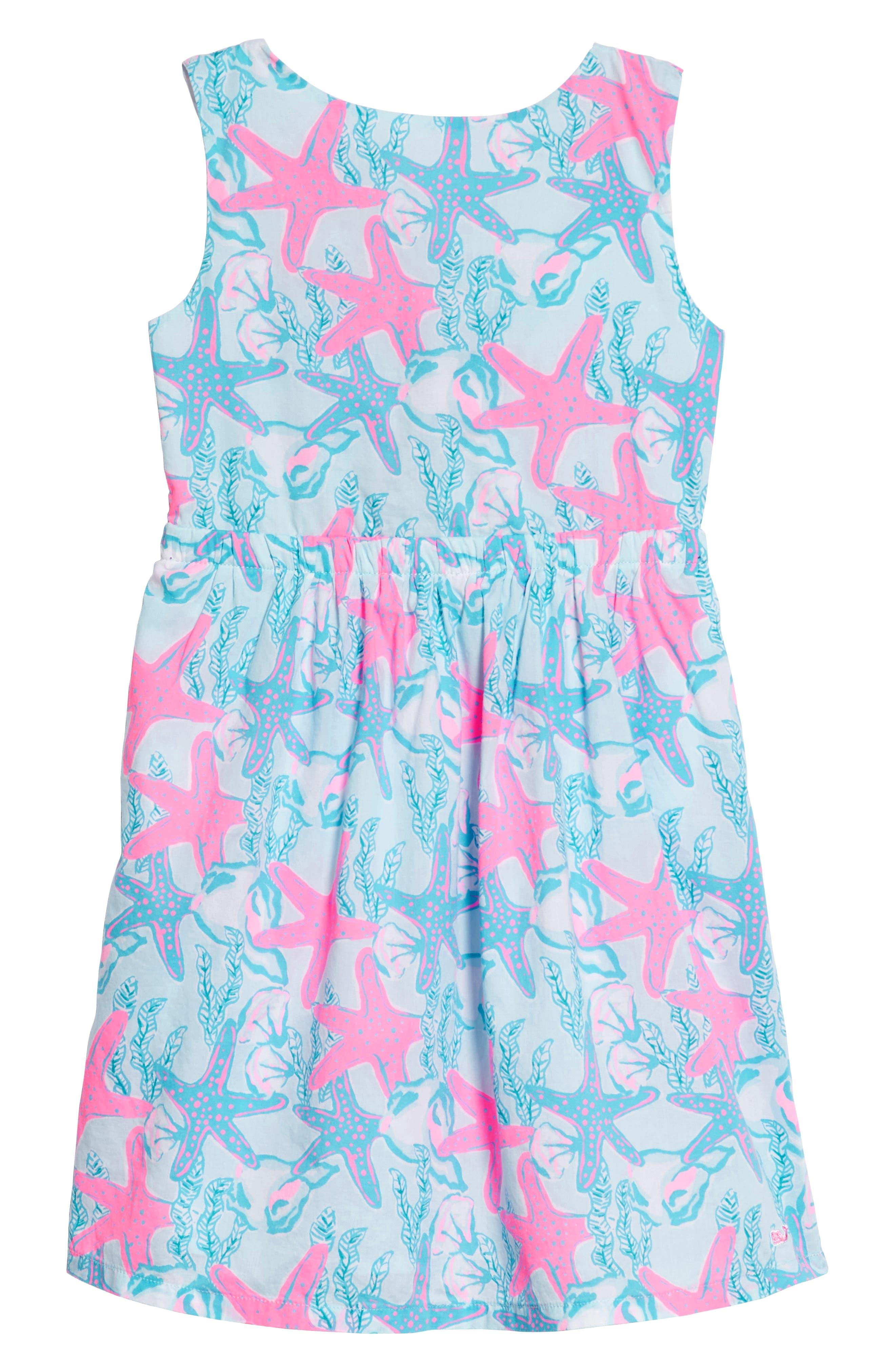 Sleeveless Print Dress,                         Main,                         color, 400