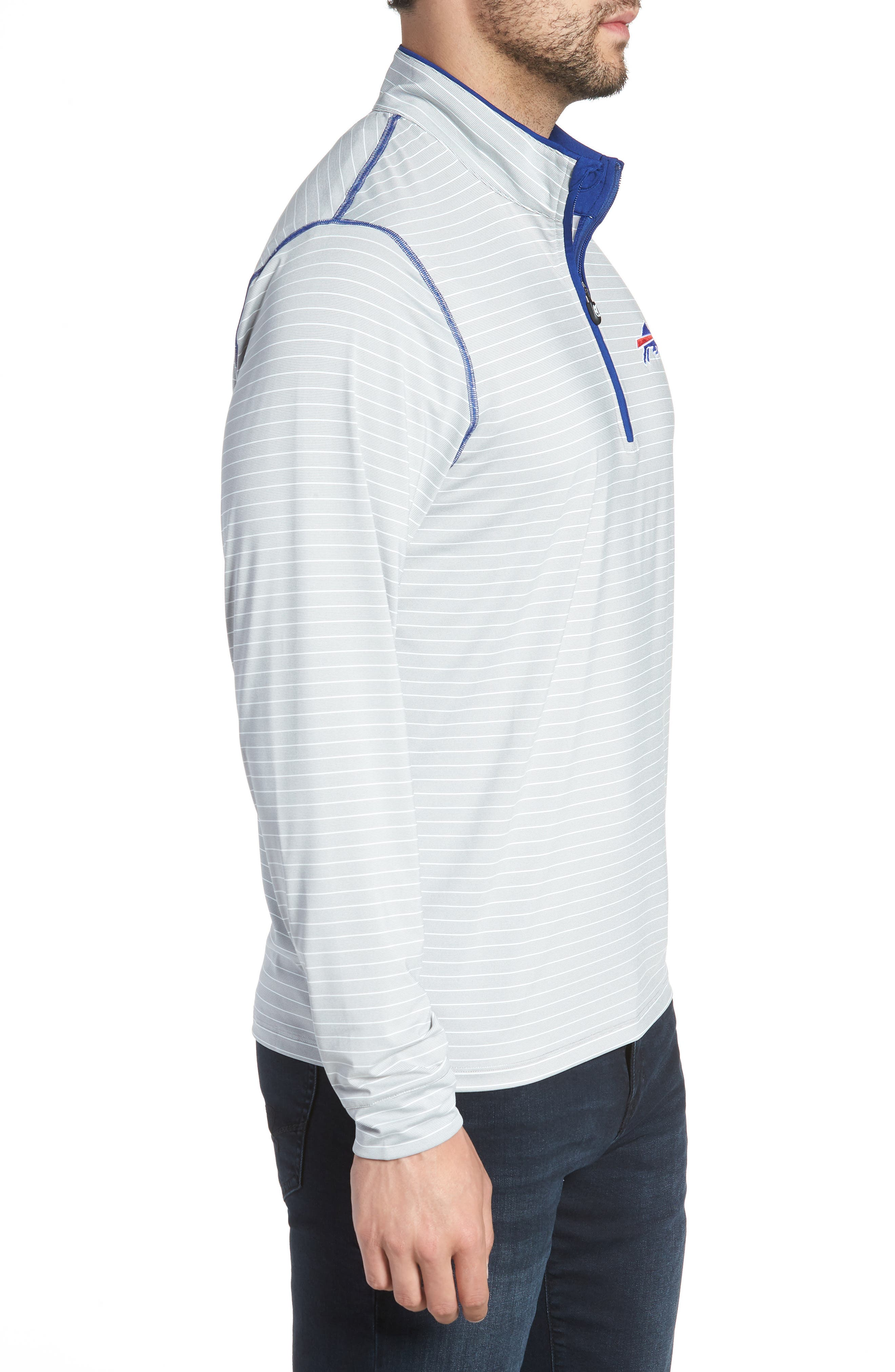 Meridian - Buffalo Bills Regular Fit Half Zip Pullover,                             Alternate thumbnail 3, color,                             462