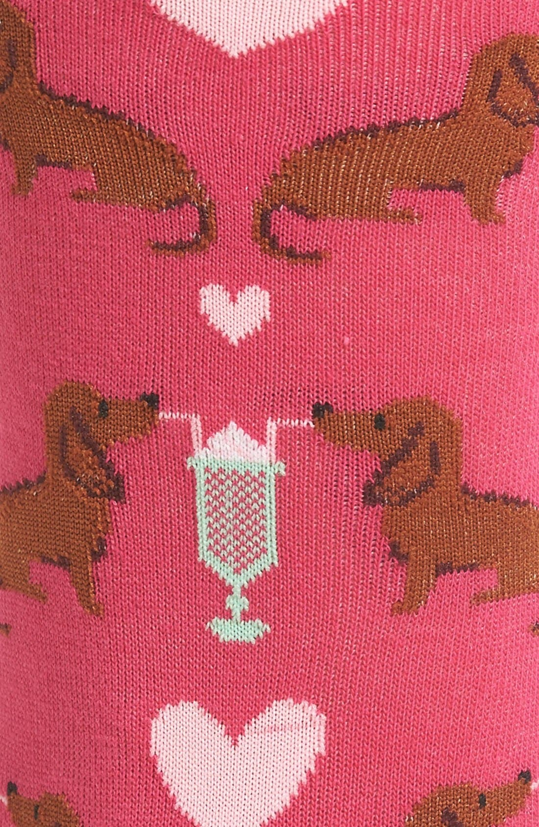 'Dogs & Milkshake' Crew Socks,                             Alternate thumbnail 4, color,