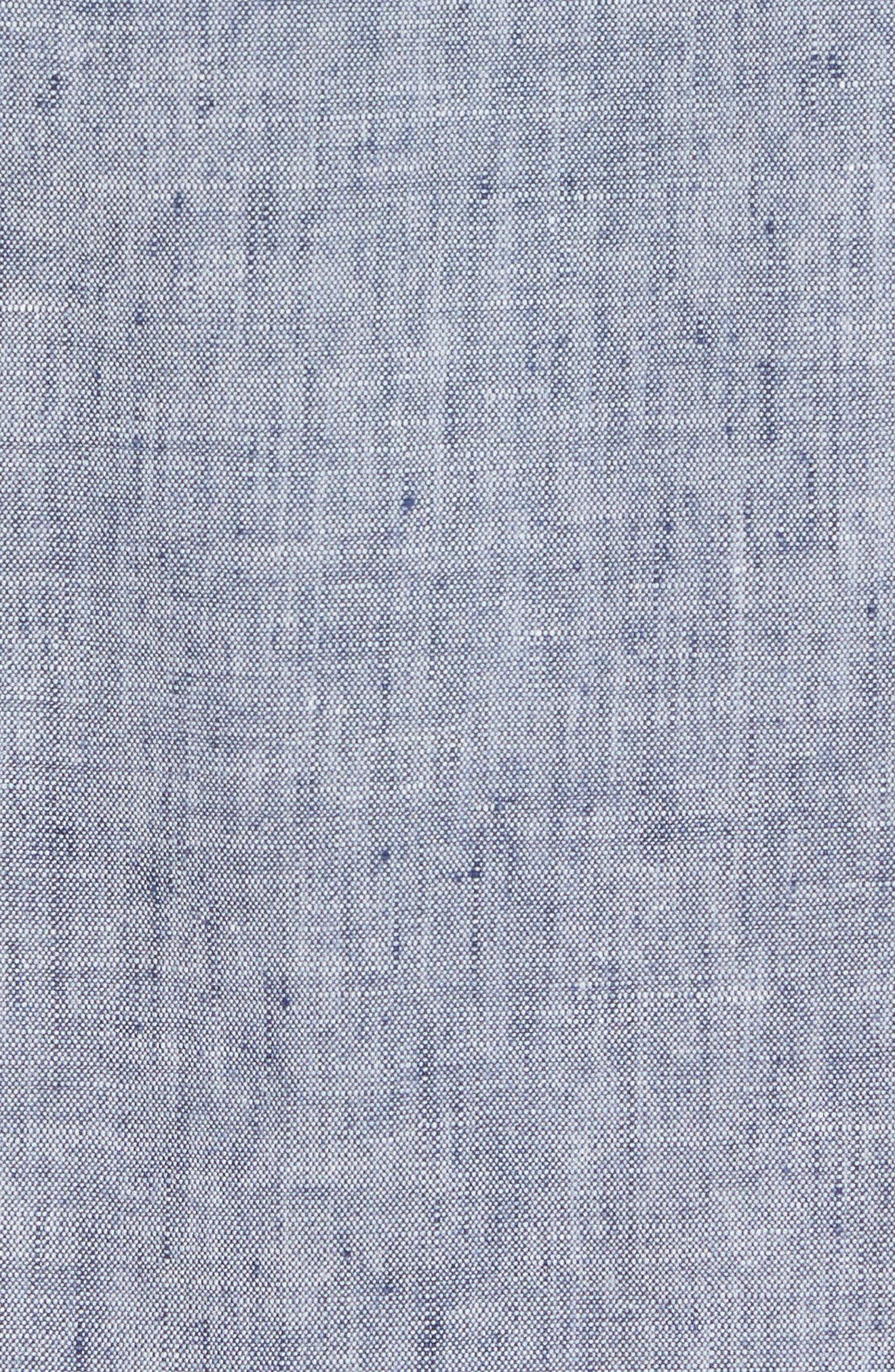 Lanai Tides Linen Blend Sport Shirt,                             Alternate thumbnail 5, color,                             THRONE BLUE