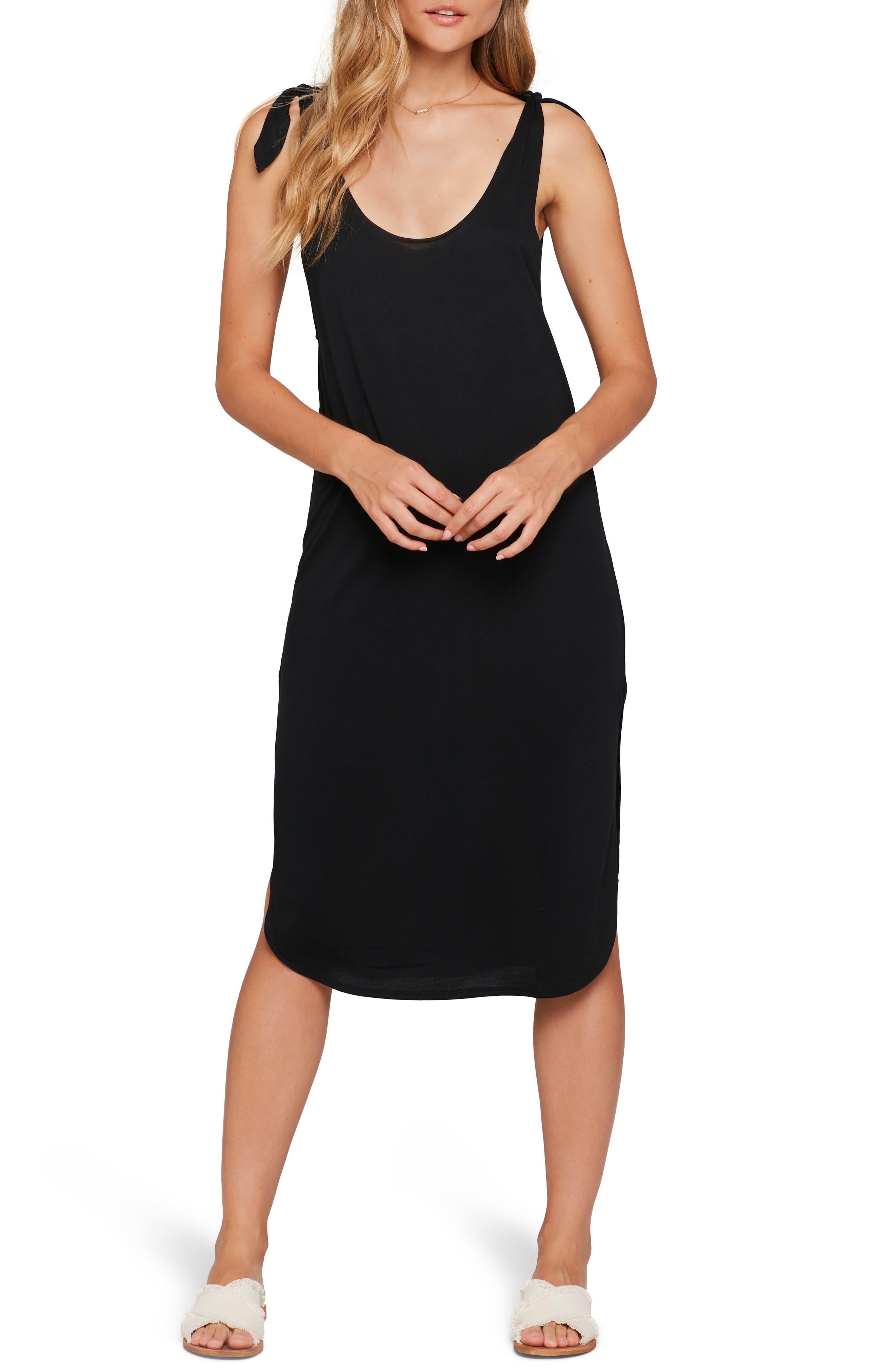 Komo Beach Cover-Up Dress, Main, color, BLACK