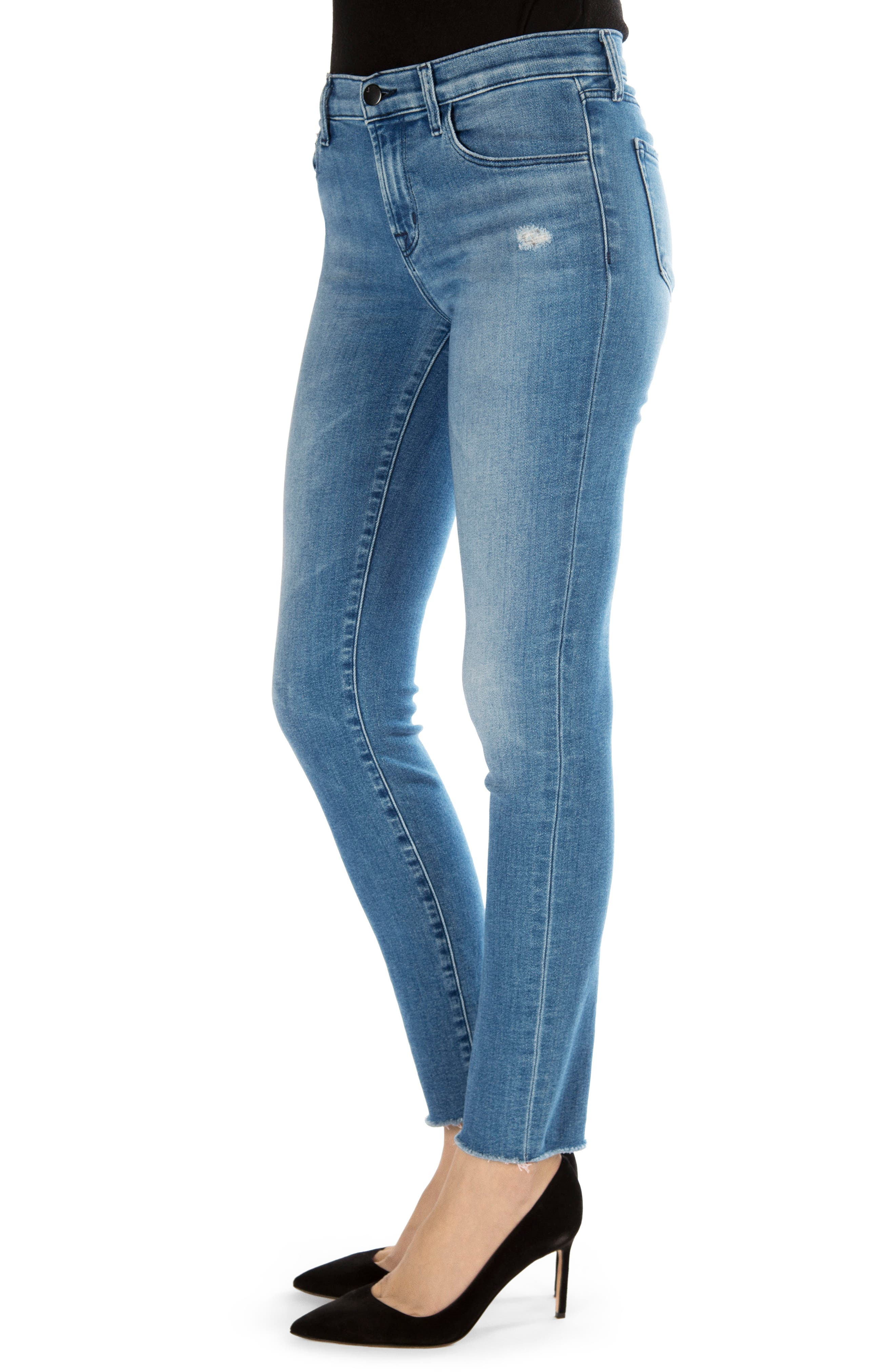811 Raw Hem Ankle Skinny Jeans,                             Alternate thumbnail 3, color,                             457