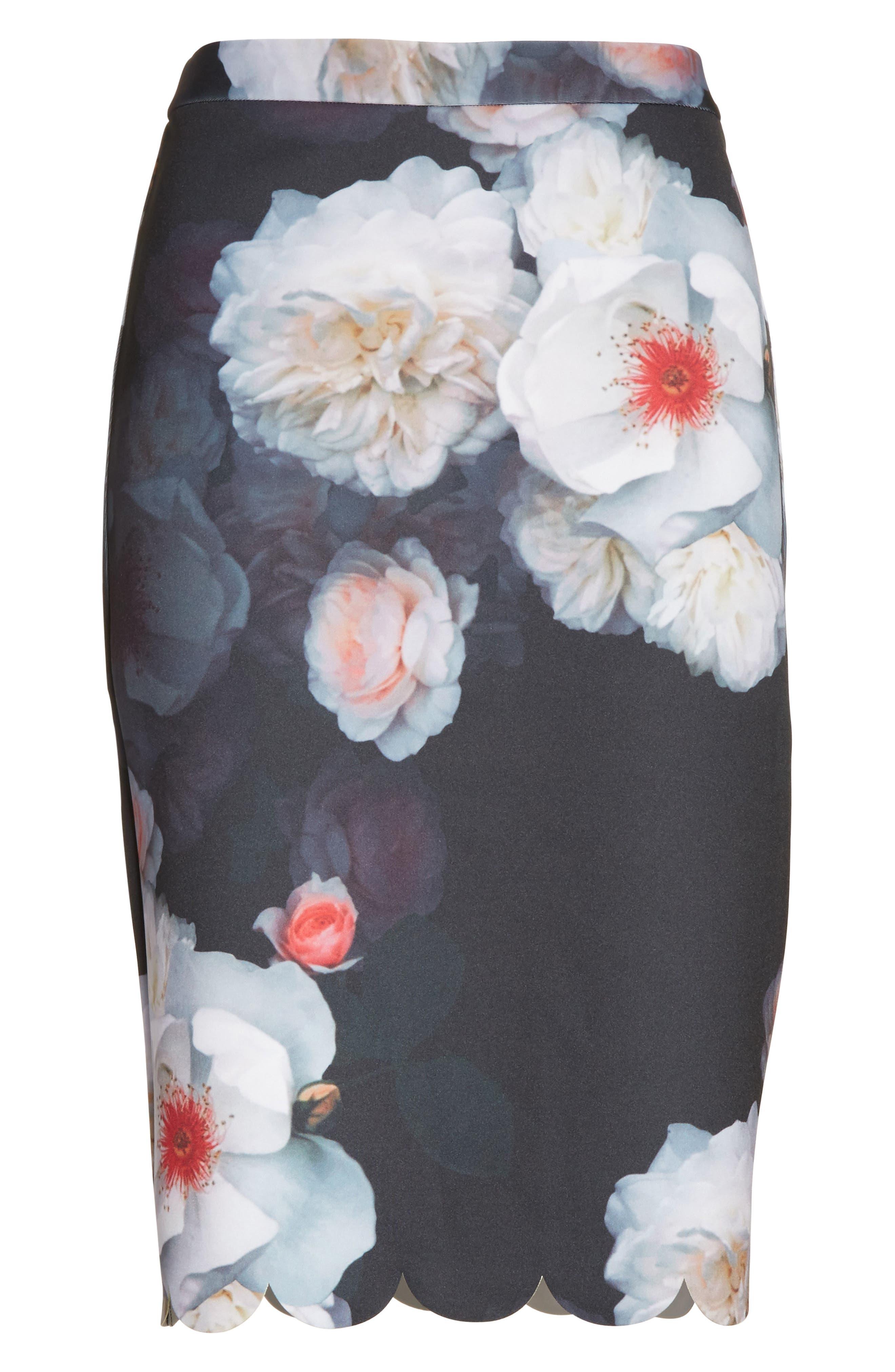 Laylie Chelsea Print Pencil Skirt,                             Alternate thumbnail 6, color,                             001