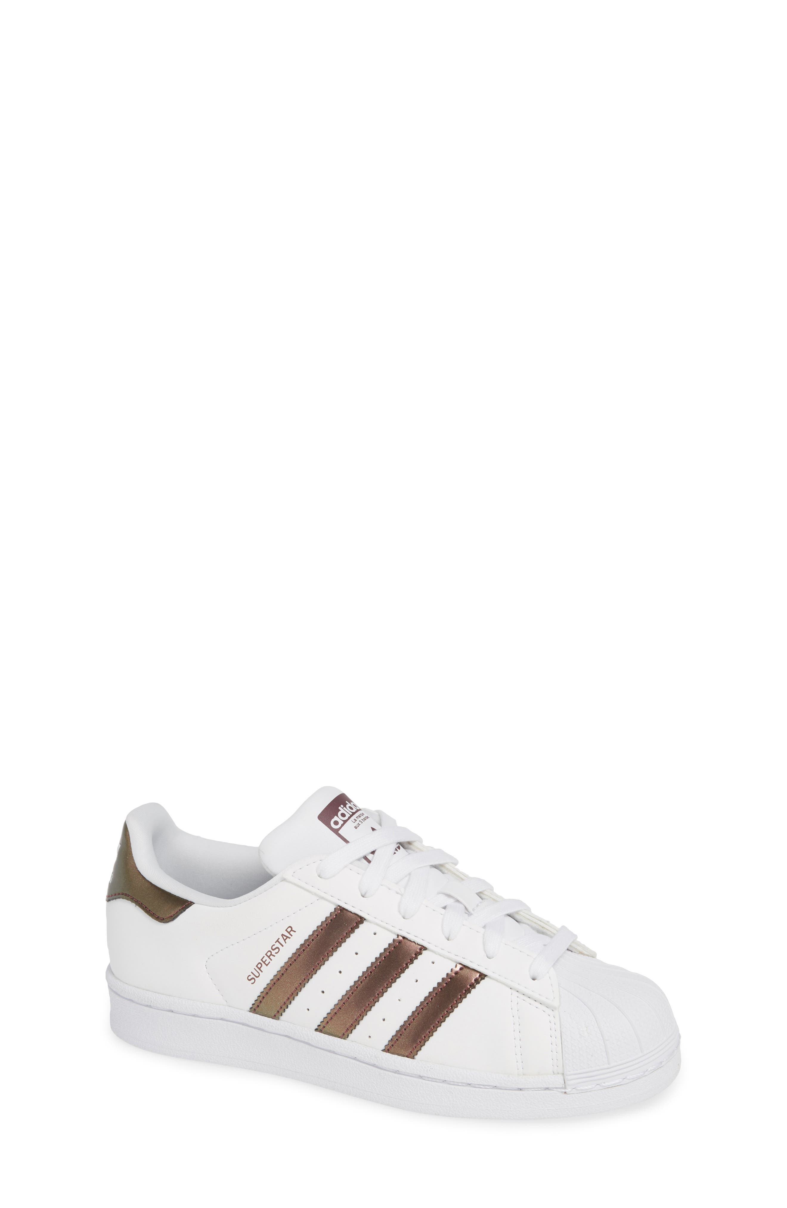 'Superstar II' Sneaker,                             Main thumbnail 1, color,                             FOOTWEAR WHITE/COPPER