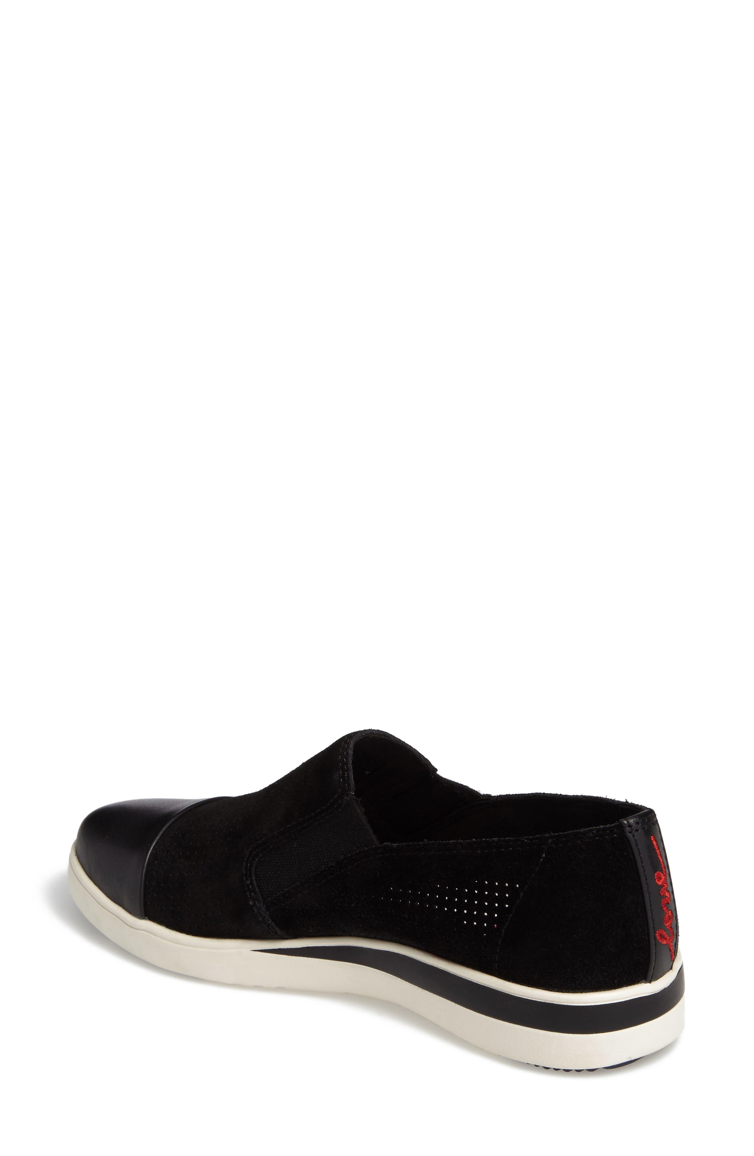 Aviana Cap Toe Slip-On Sneaker,                             Alternate thumbnail 2, color,                             002
