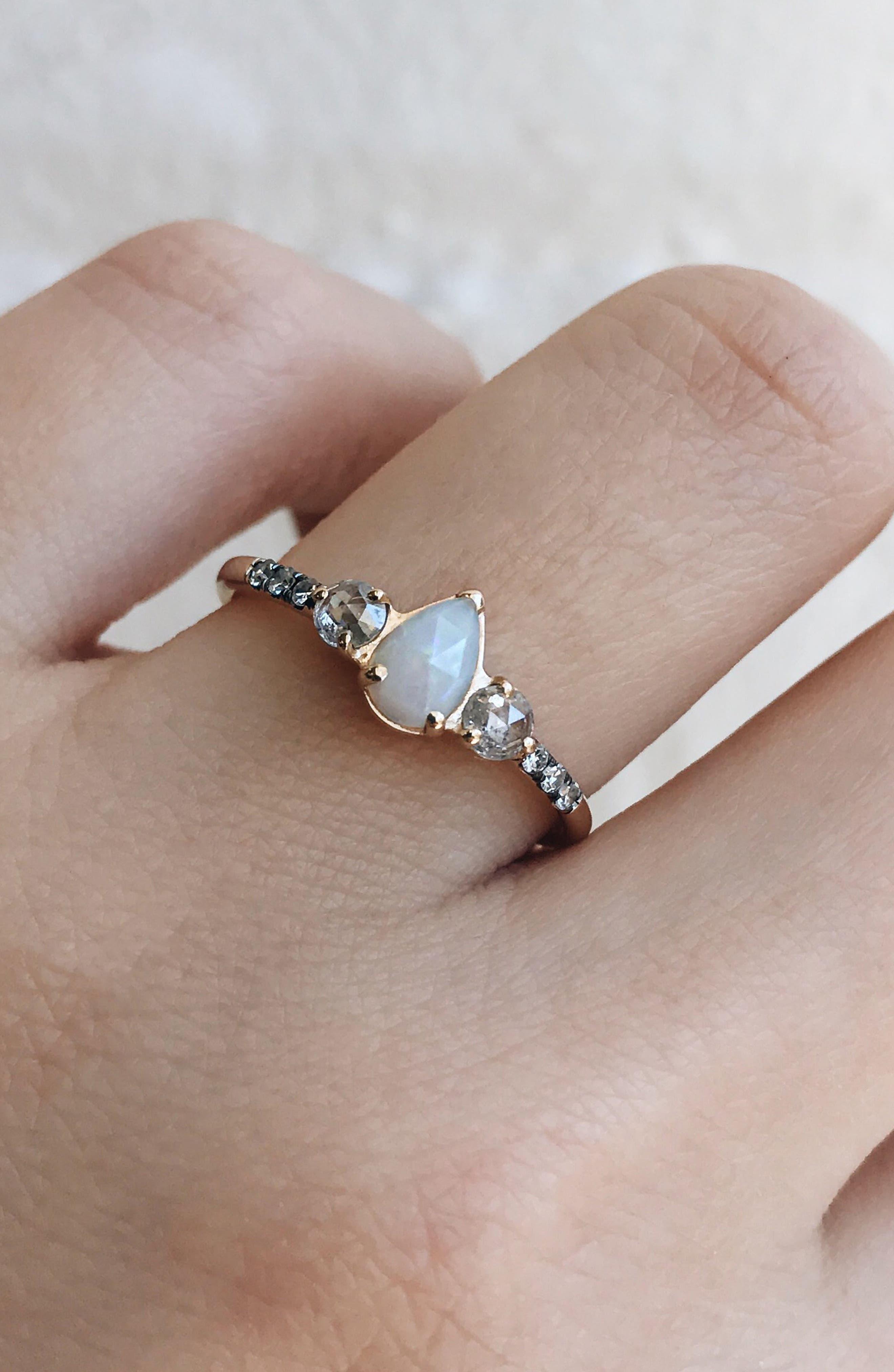 Radiance Opal & Diamond Ring,                             Alternate thumbnail 4, color,                             WHITE GOLD/ OPAL