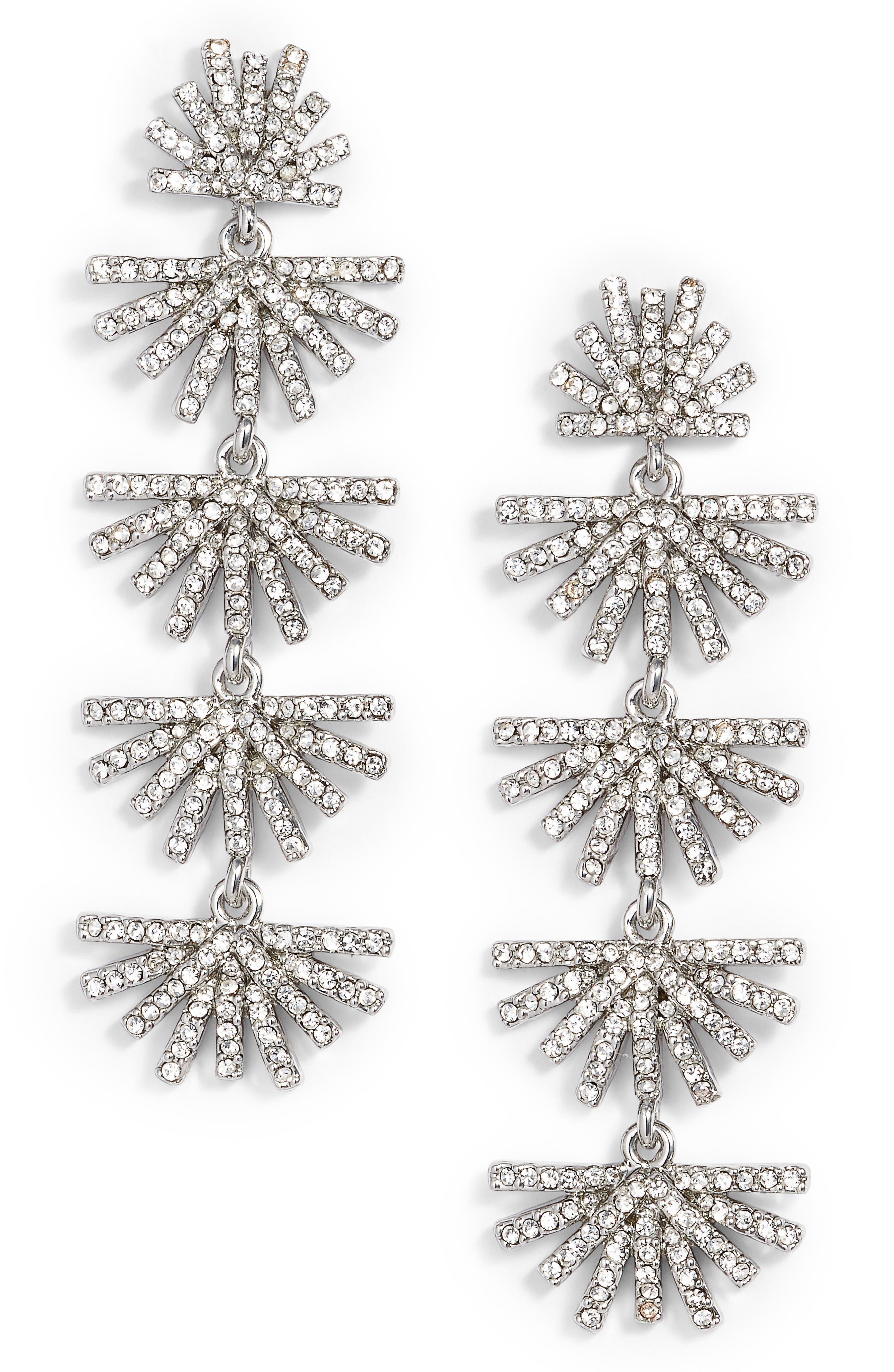 LELE SADOUGHI Crystal Drop Earrings, Main, color, 040