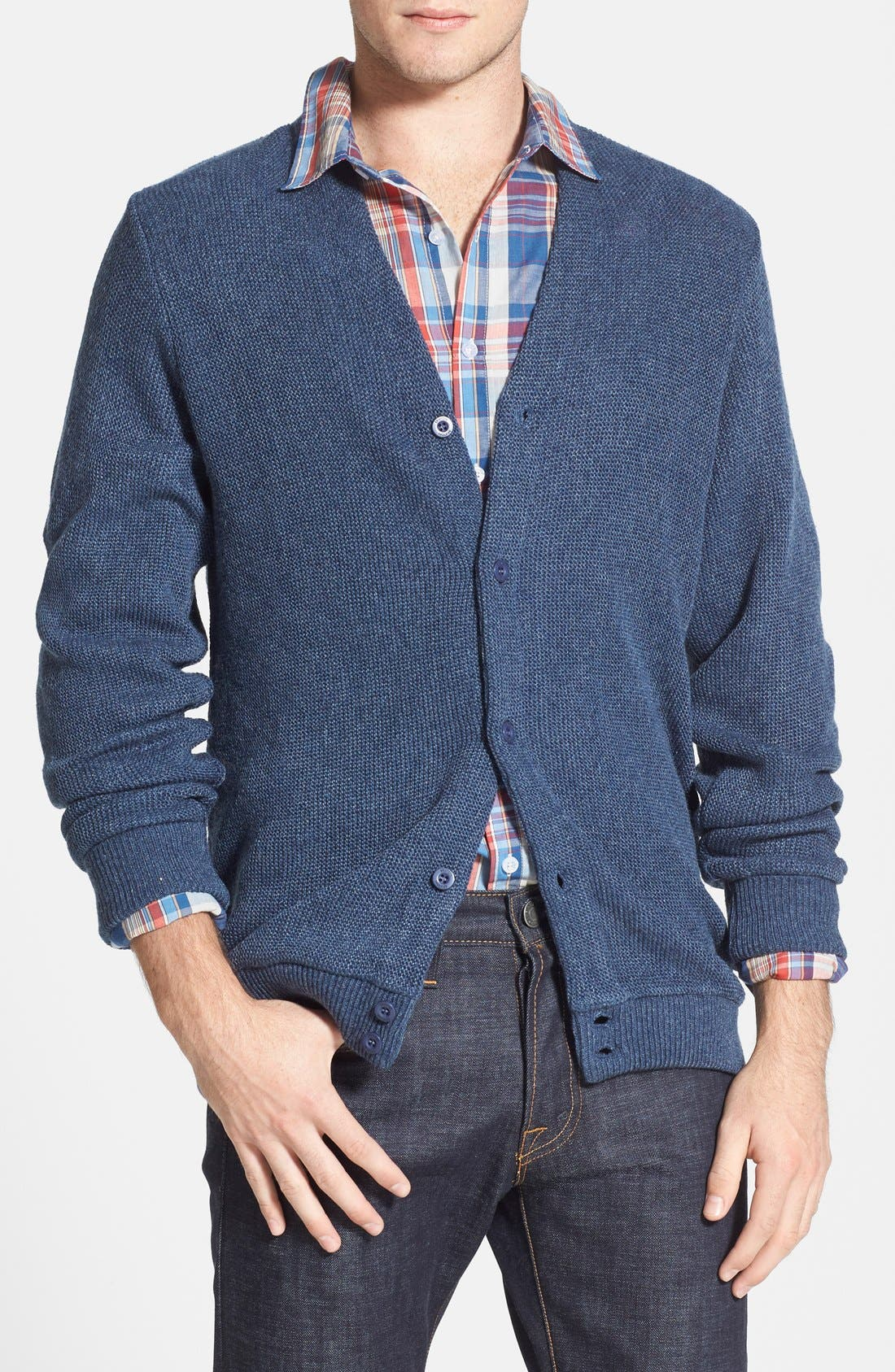 BRIXTON,                             'Miles' Cardigan Sweater,                             Main thumbnail 1, color,                             468