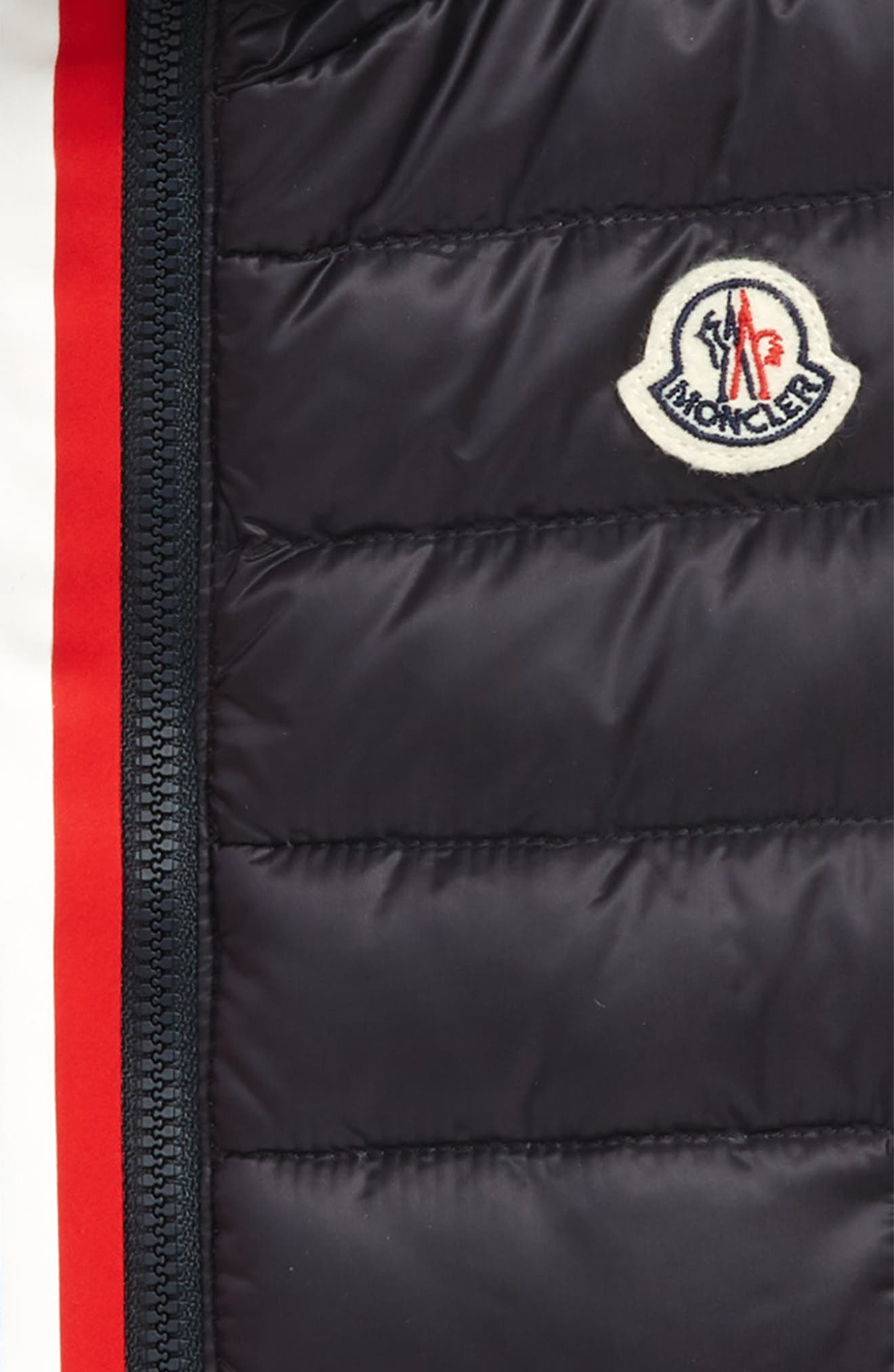MONCLER,                             Blavet Double Zip Quilted Down Vest,                             Alternate thumbnail 2, color,                             742 NAVY
