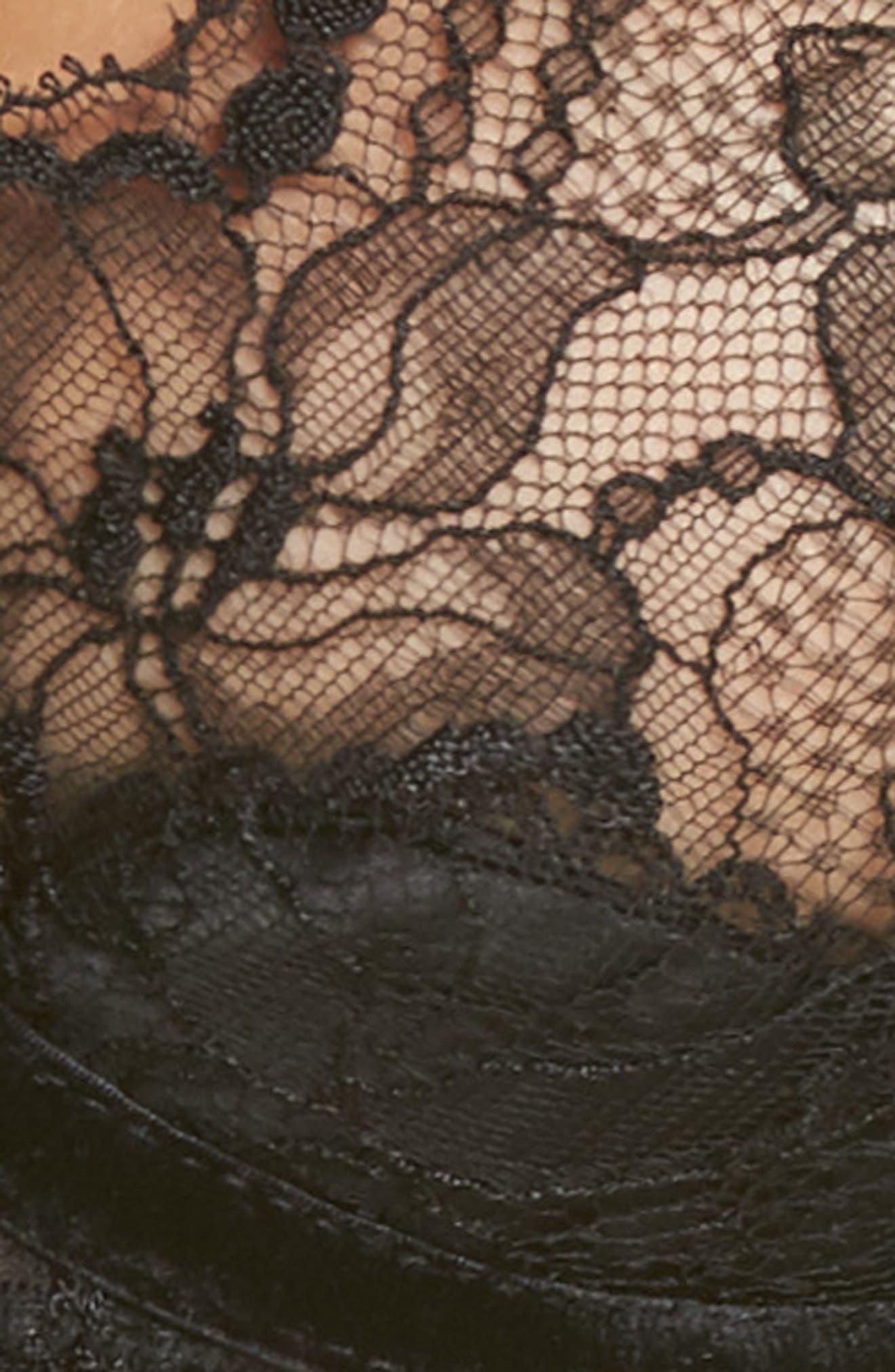 Tryst Underwire Balconette Bra,                             Alternate thumbnail 6, color,                             BLACK