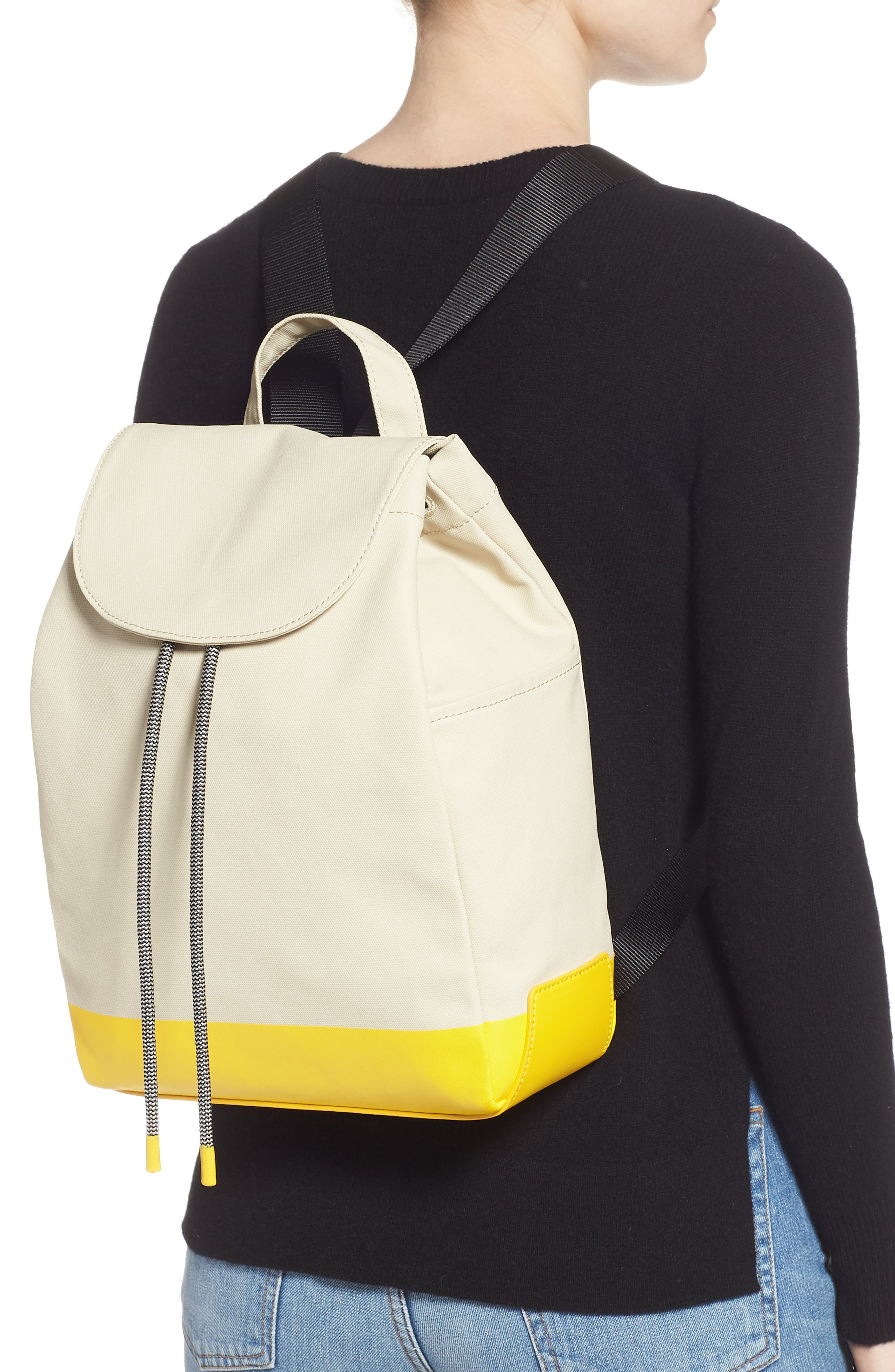 Penny Flap Backpack,                             Alternate thumbnail 2, color,                             IVORY BIRCH/YELLOW