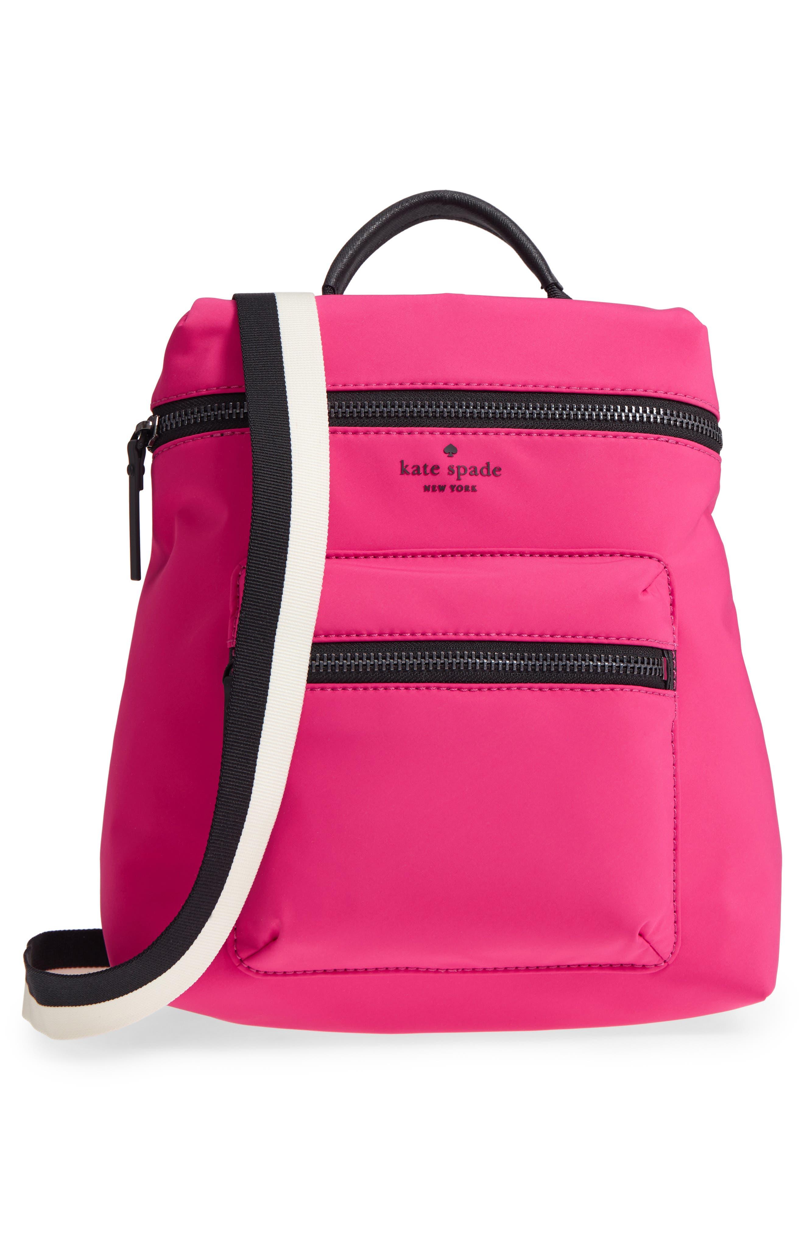 that's the spirit mini nylon convertible backpack,                             Alternate thumbnail 3, color,                             KINETIC PINK