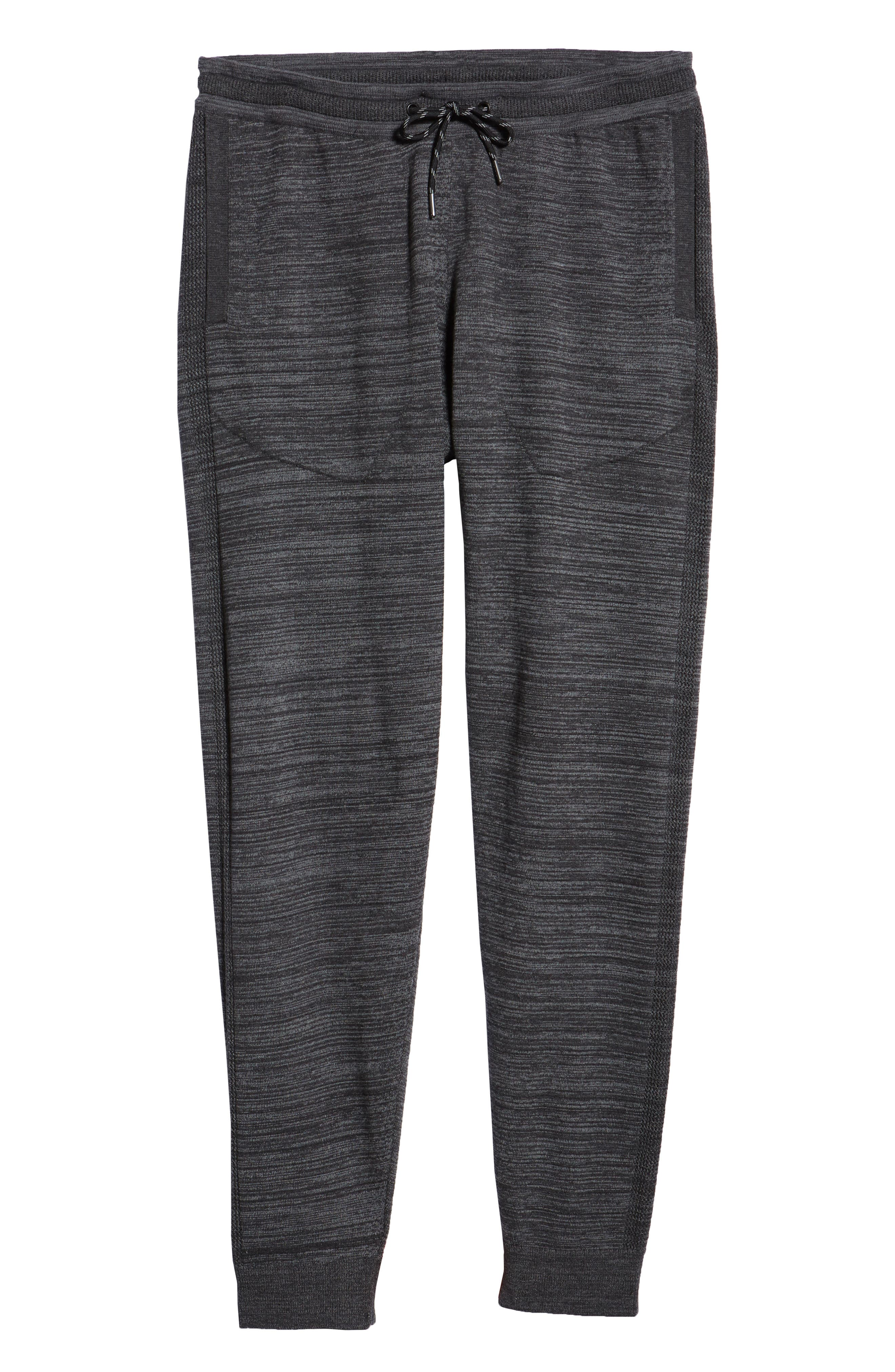 Tech Sweater Knit Jogger Pants,                             Alternate thumbnail 6, color,                             BLACK OXIDE SPACEDYE